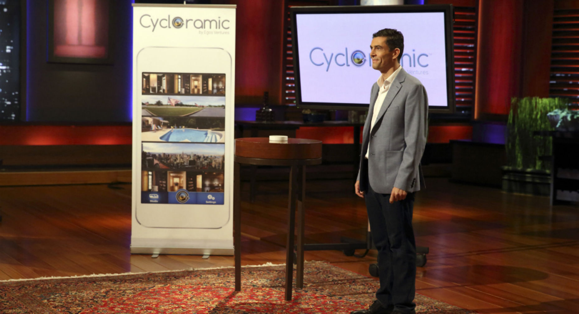 Bruno François presenting his app Cycloramic. Credit: Ergos Ventures