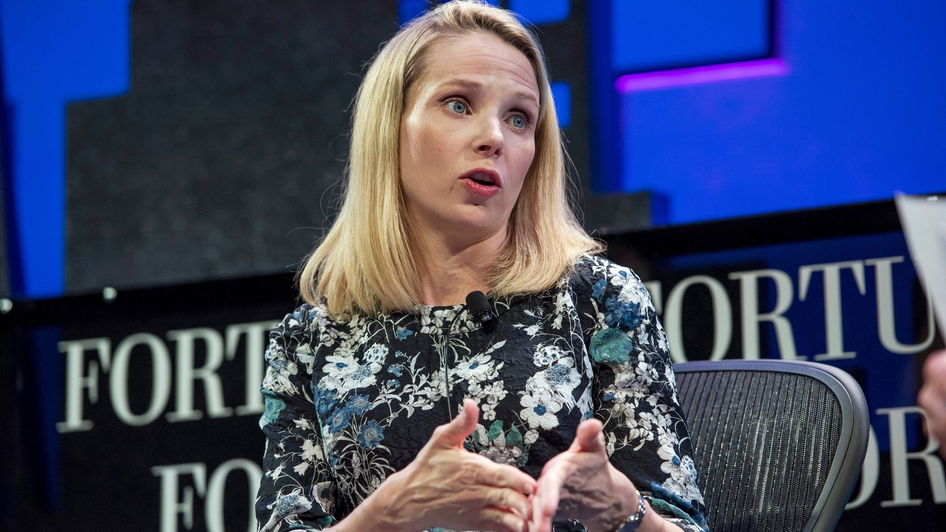 Marissa Mayer.  Photo by Bloomberg.