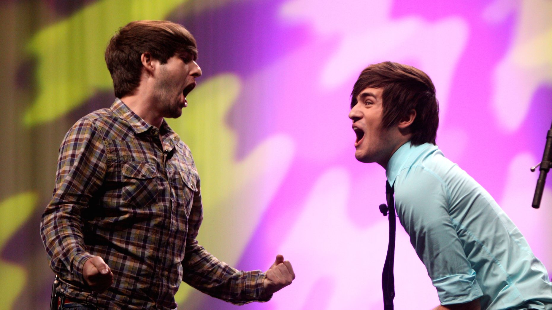 Ian Hecox and Anthony Padilla, the creators and stars of Smosh. Photo by Flickr/Gage Skidmore.