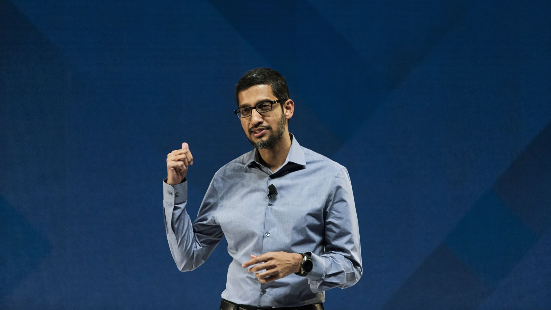 Google CEO Sundar Pichai. Photo by Bloomberg.