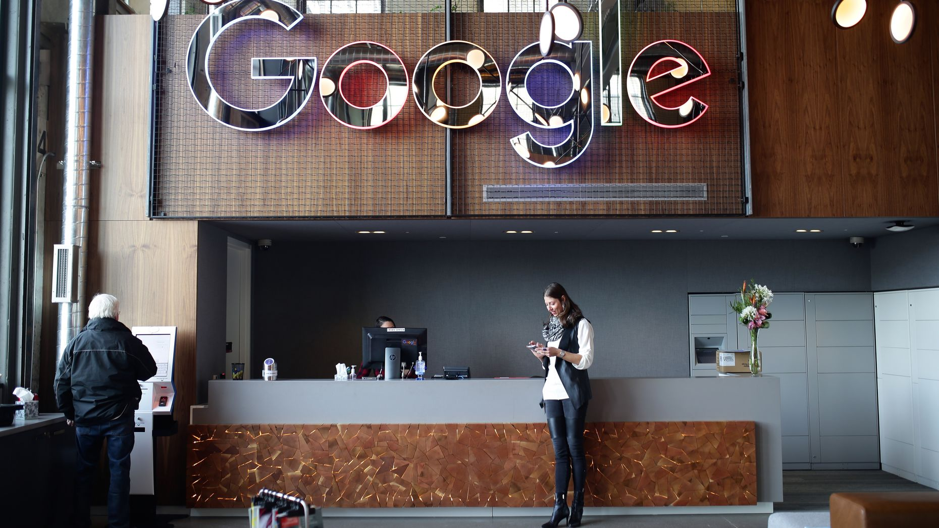 Google office photo by Bloomberg.