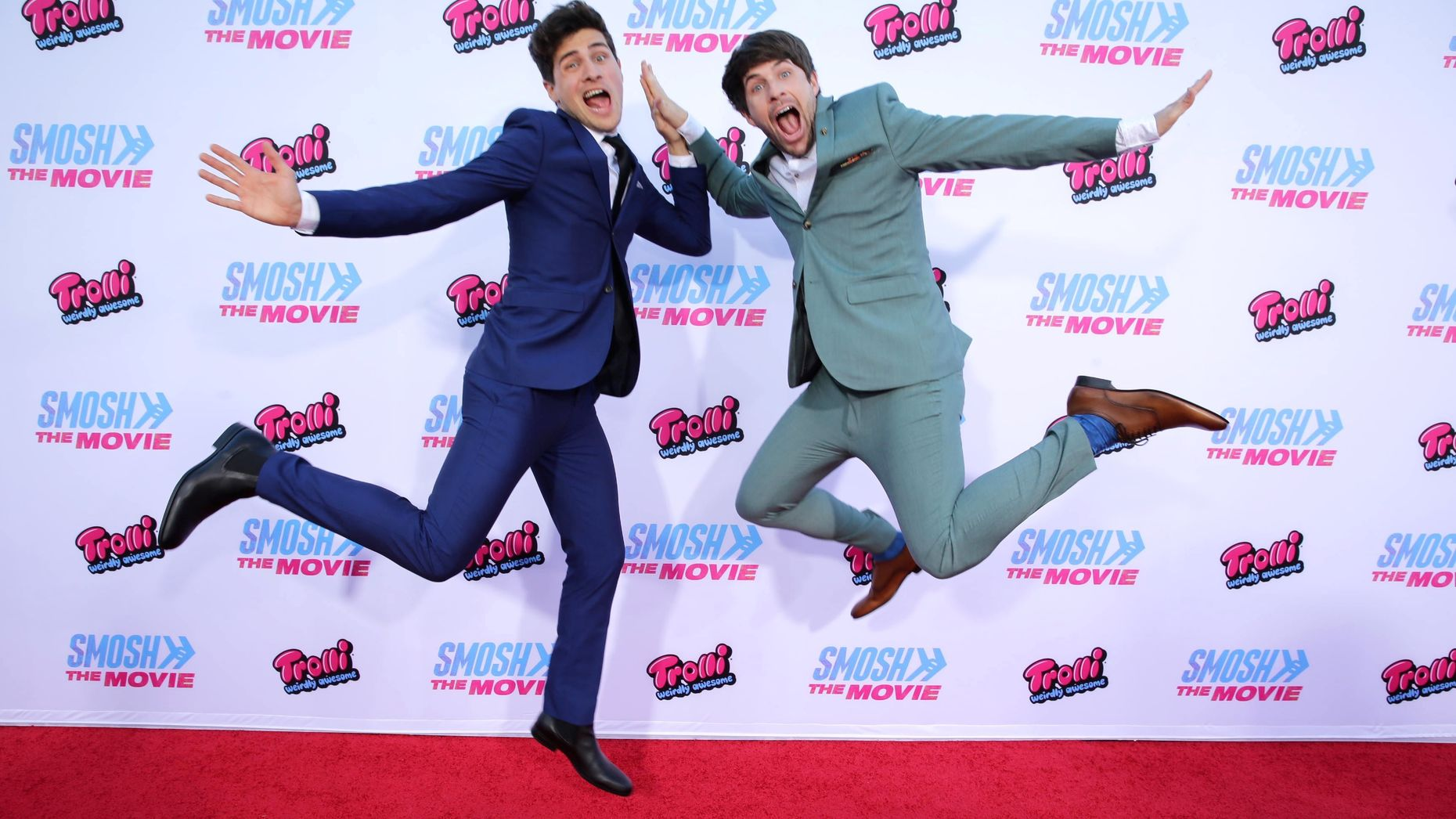 Anthony Padilla and Ian Hecox from Defy Media's Smosh series, which airs on go90.  Photo by AP.
