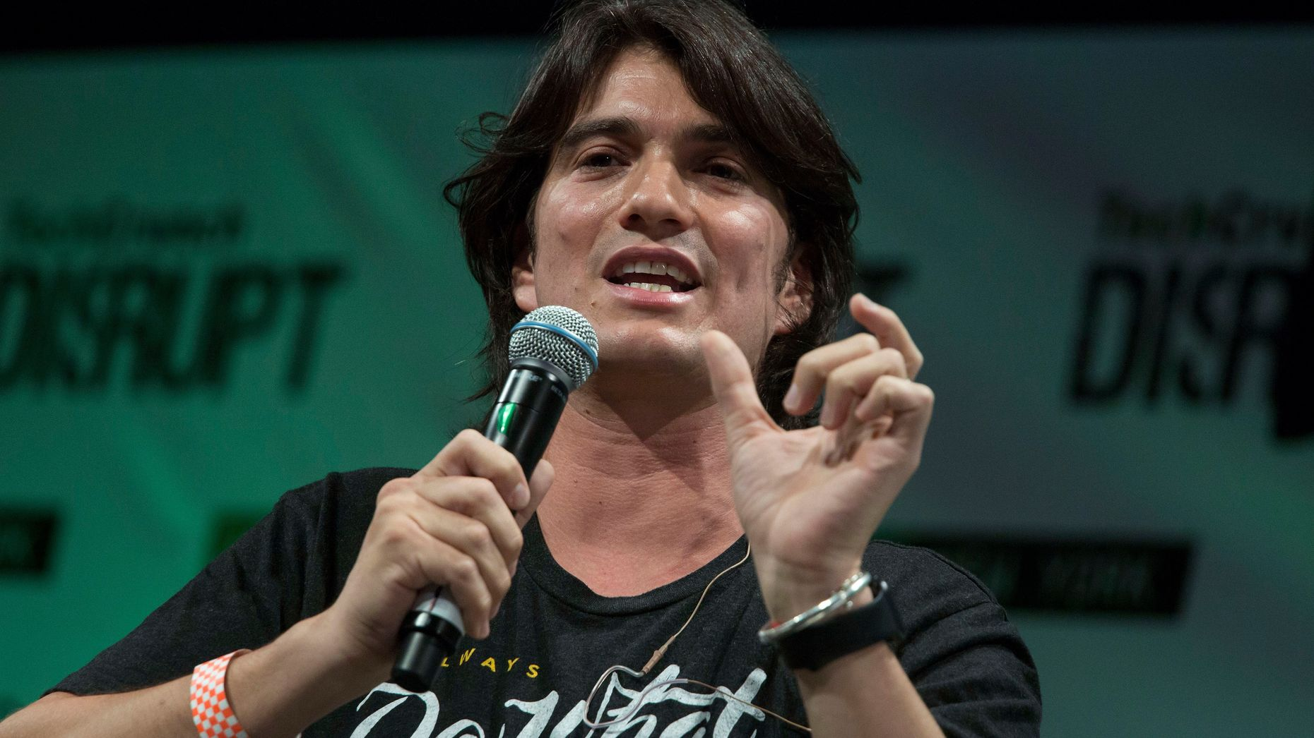 WeWork CEO Adam Neumann. Photo by Bloomberg.