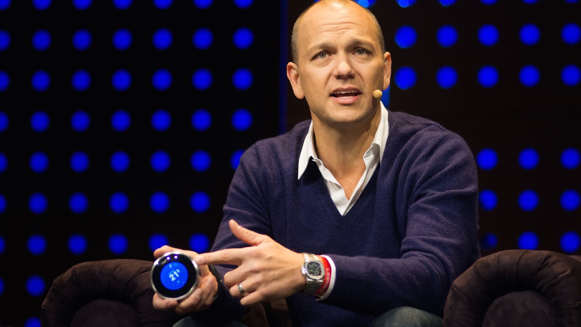 Tony Fadell. Photo by Flickr/LeWeb. Art by Jeff Greco.