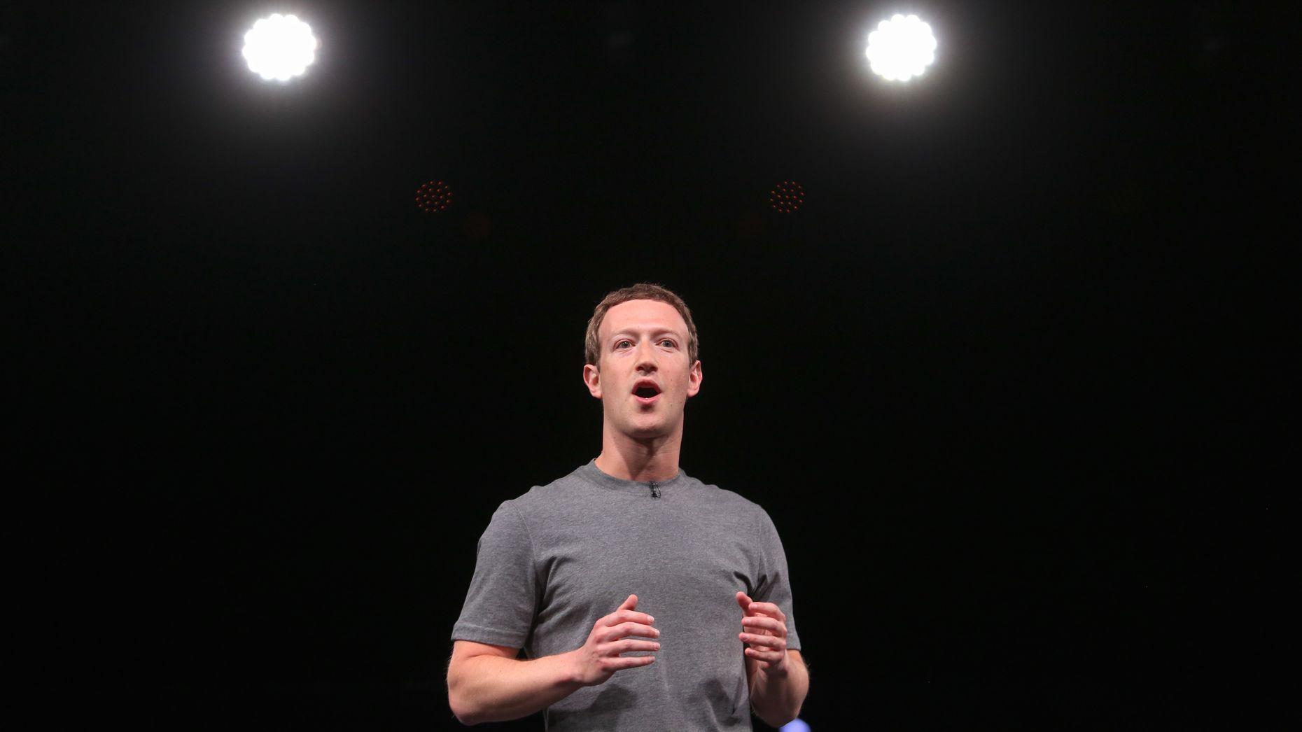 Mark Zuckerberg. Photo by Bloomberg. Art by Dustin Rogers.
