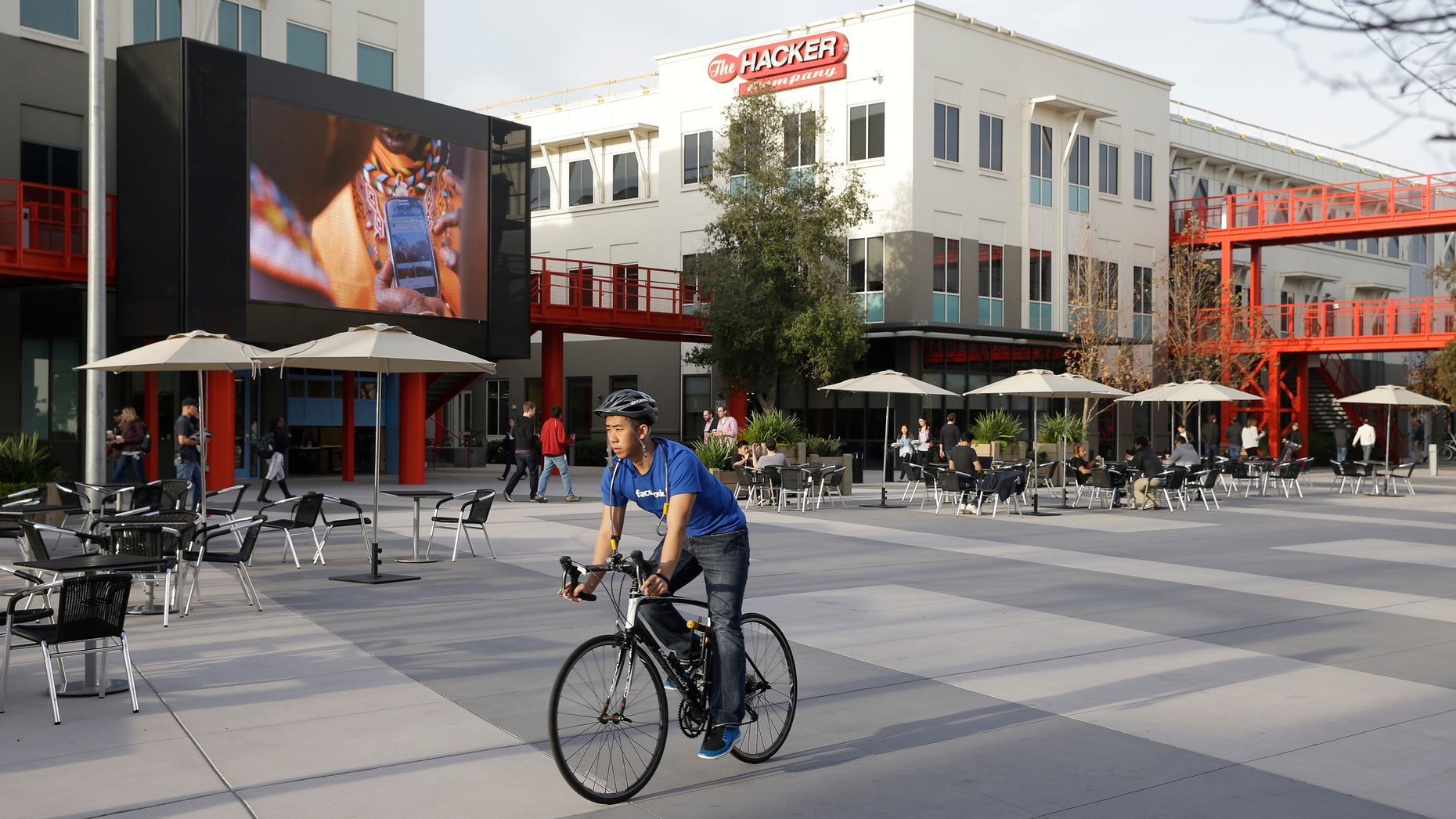 Facebook's Menlo Park campus. Photo by AP.