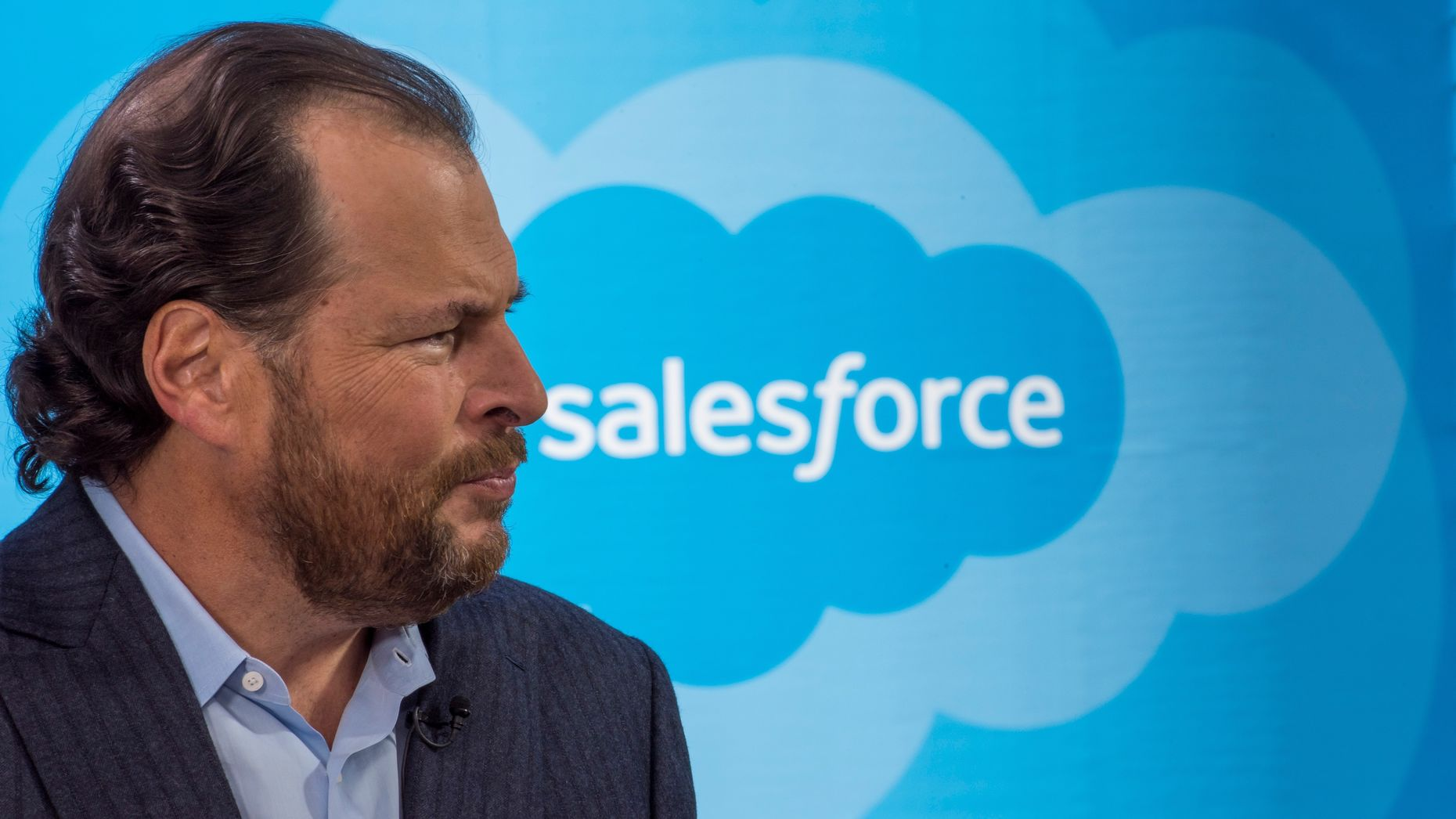 Salesforce CEO Marc Benioff. Photo by Bloomberg.