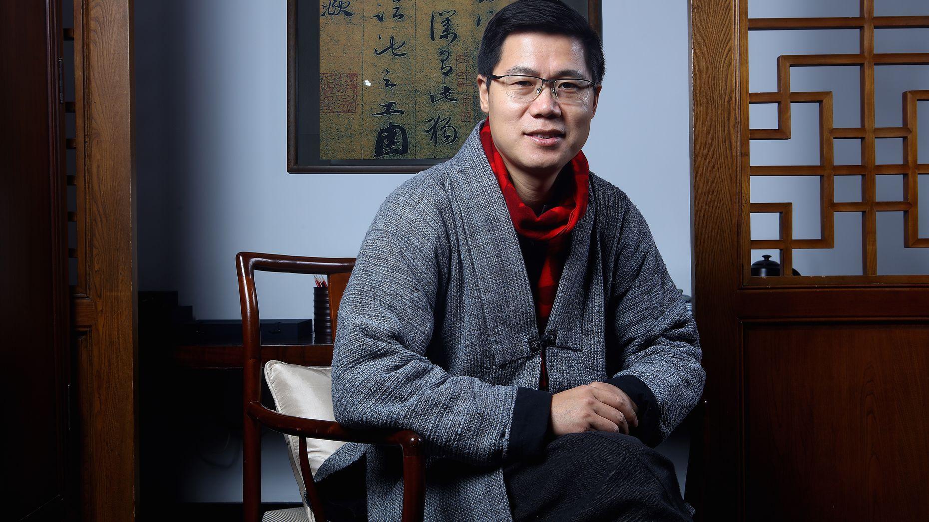 Chinese angel investor Wang Gang. Photo by Zhang Yong.