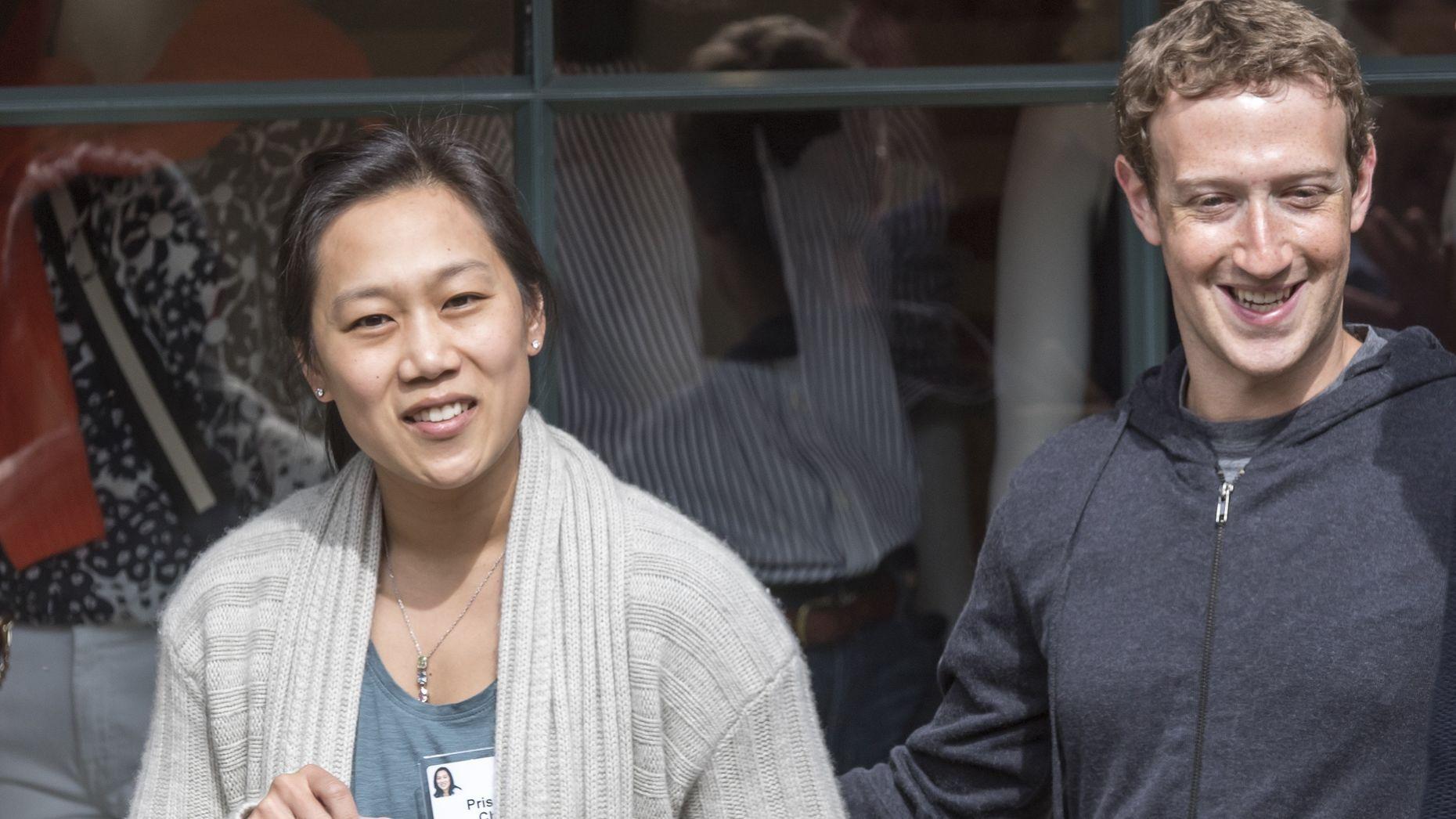 Chan Zuckerberg Initiative principals Priscilla Chan and Mark Zuckerberg. Photo by Bloomberg.