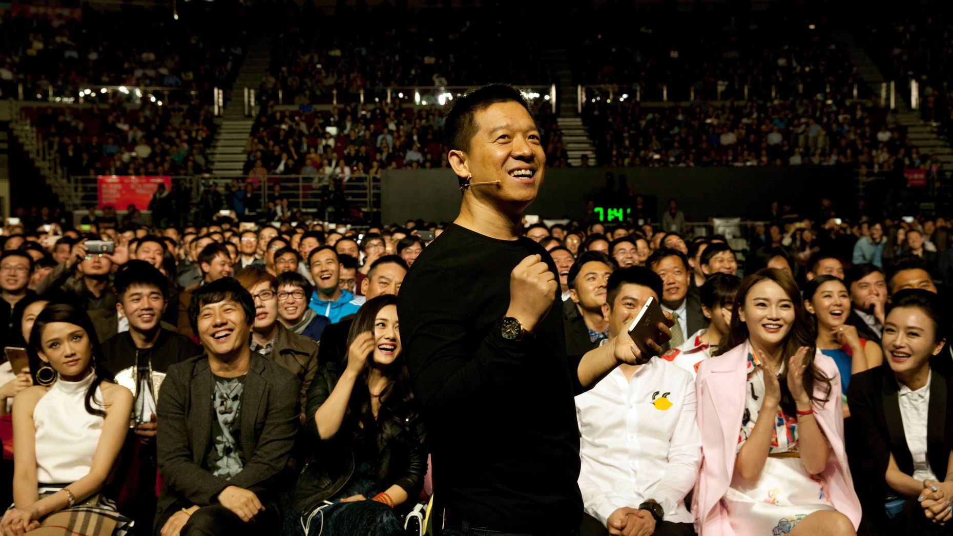 LeEco founder Jia Yueting at an event in Beijing in April, 2015. Photo by AP.