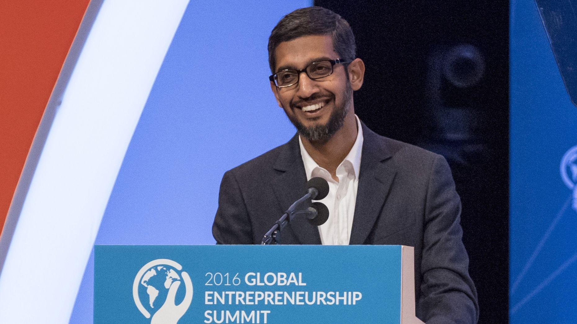 Google CEO Sundar Pichai. Photo by Bloomberg.