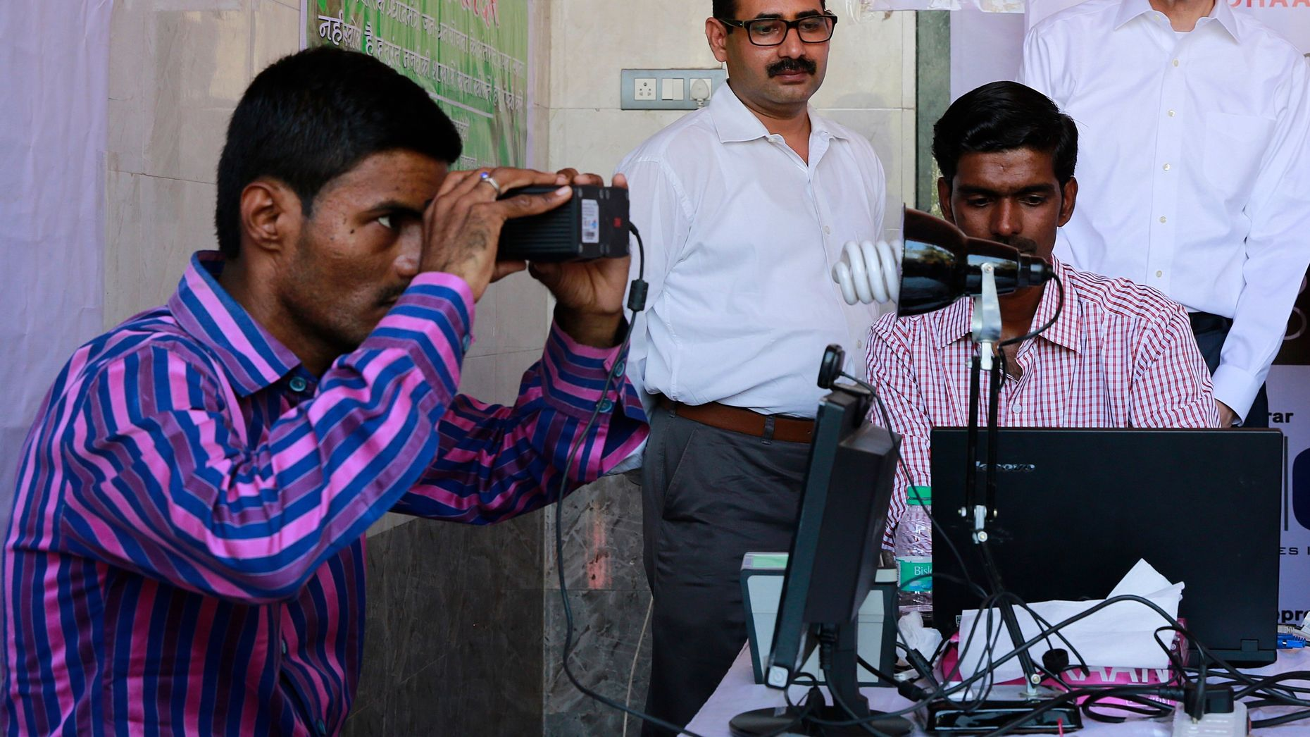 An enrollment camp for Aadhaar in Mumbai, India. Photo by AP.