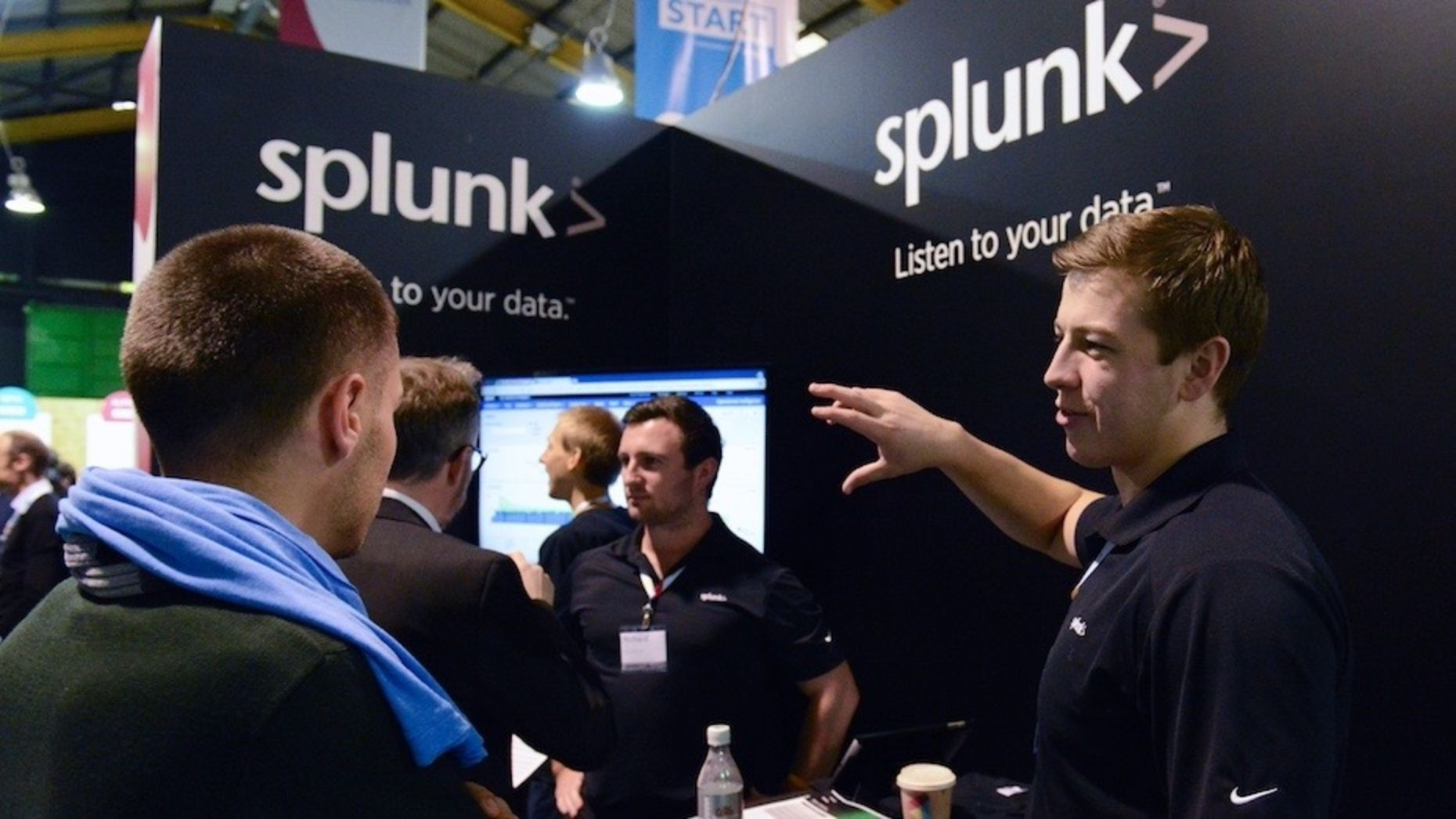 Splunk representatives at Web Summit in 2012. Photo by Flickr/Web Summit.
