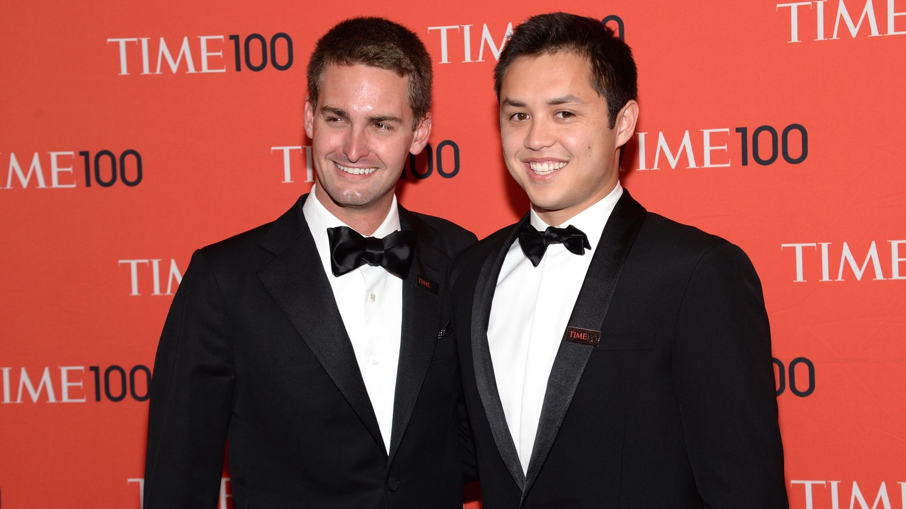 Snap's co-founders Evan Spiegel and Bobby Murphy. Photo by AP.