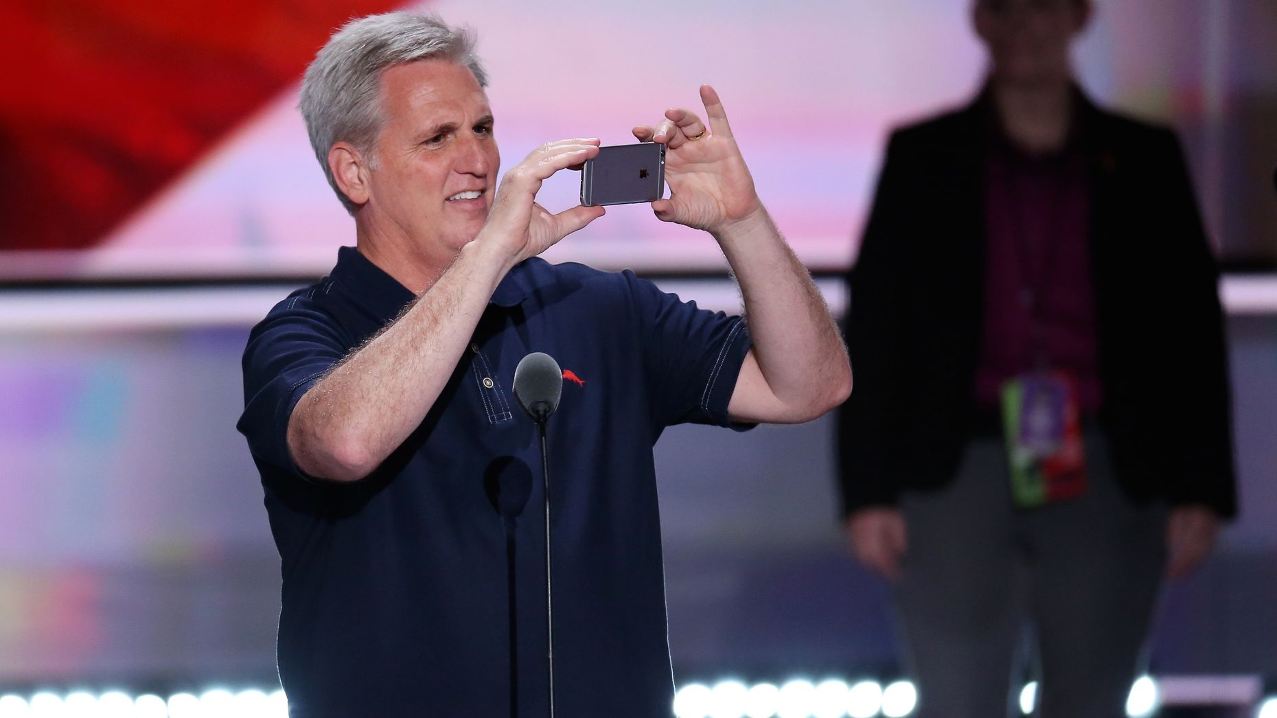 House Majority Leader Kevin McCarthy at the Republican National Convention. Photo by Bloomberg.