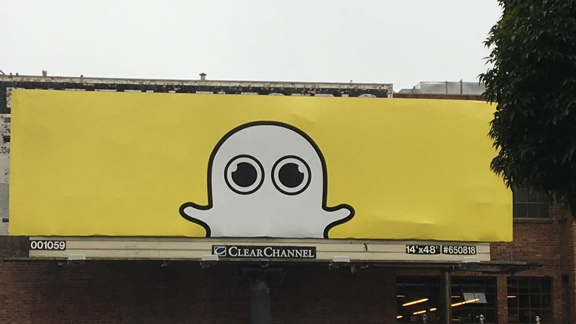 A Snap billboard in San Francisco. Photo by Tom Dotan.