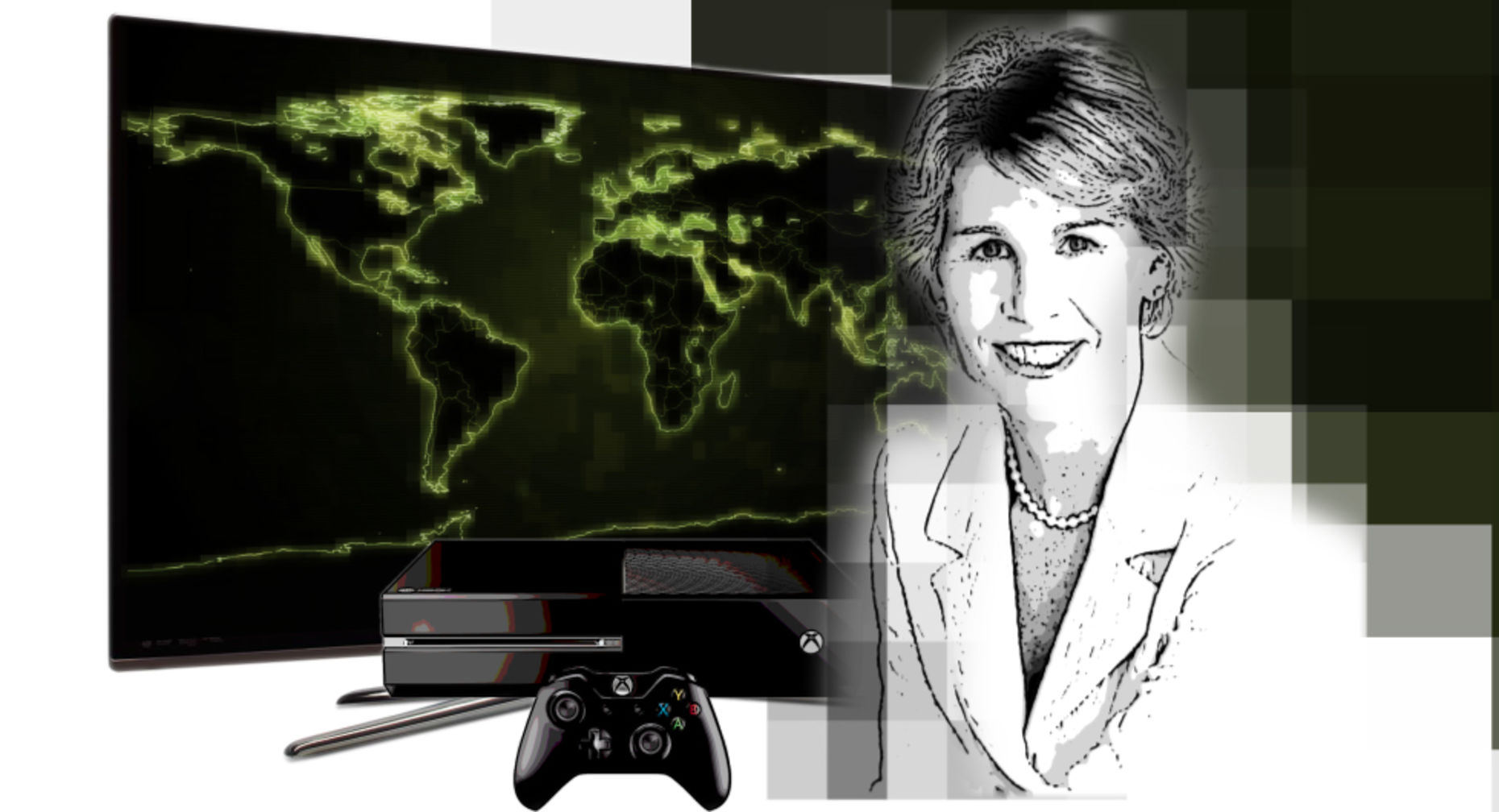 Nancy Tellem, Microsoft's president of entertainment and digital media. Art by Matthew Vascellaro.