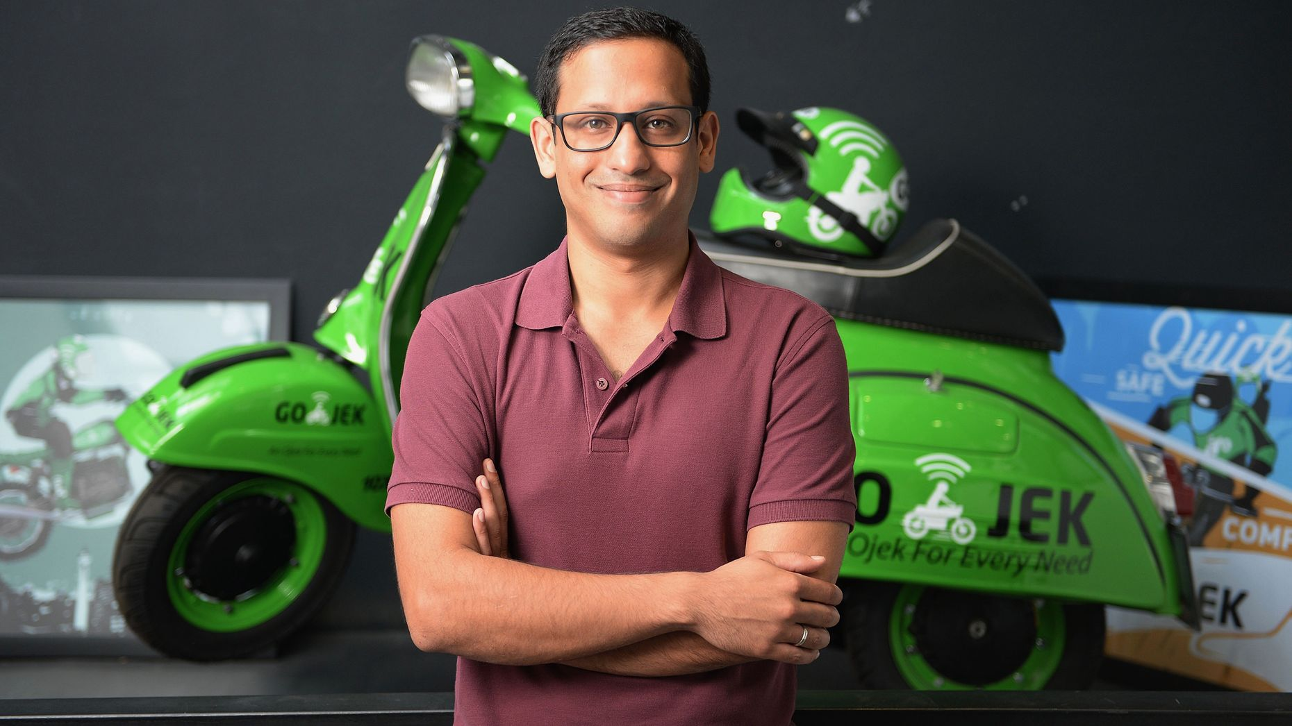 Go-Jek CEO Nadiem Makarim. Photo by Bloomberg.