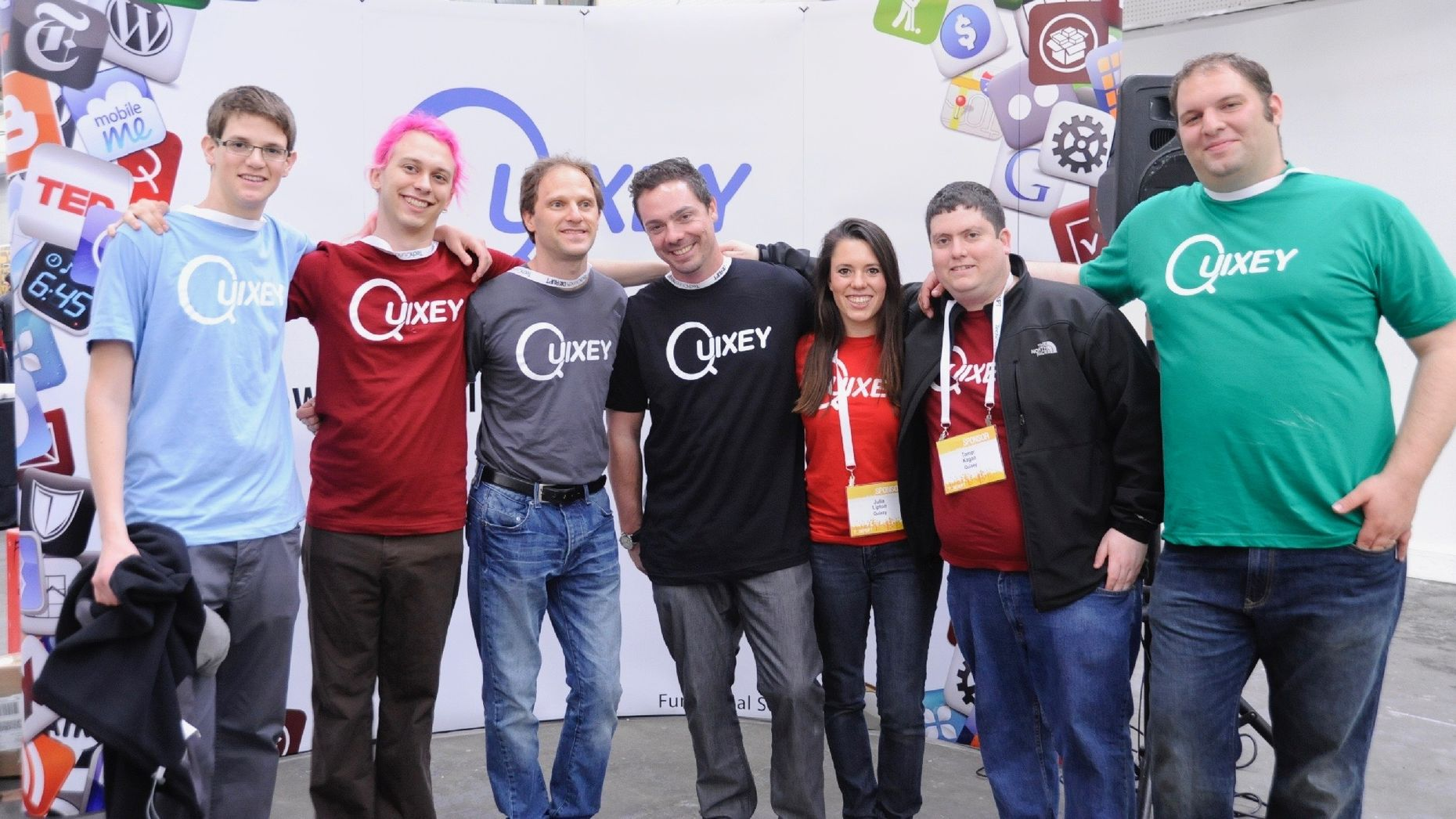 Former Quixey co-founder CEO Tomer Kagan, second from right. Photo by Flickr/TechCrunch.