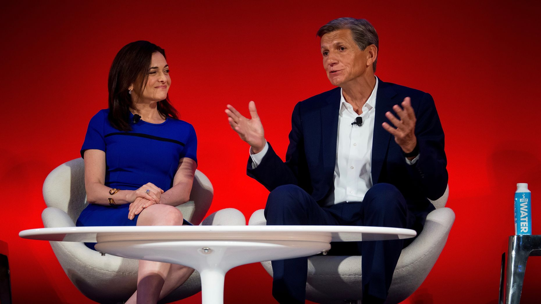 Facebook's Sheryl Sandberg, left, and Marc Pritchard of Procter & Gamble Co. Photo by Bloomberg.
