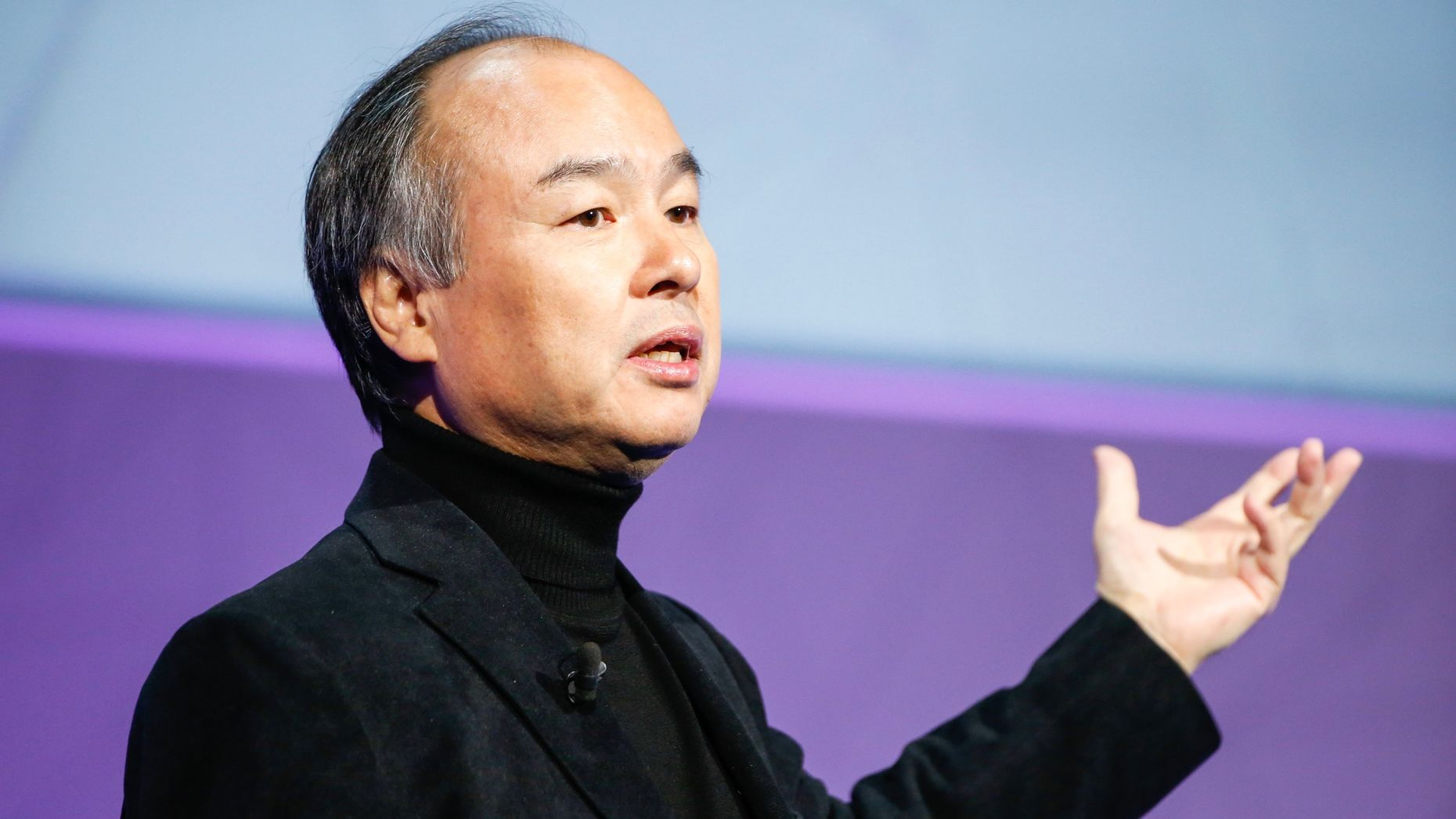 SoftBank Chairman and CEO Masayoshi Son. Photo by Bloomberg.