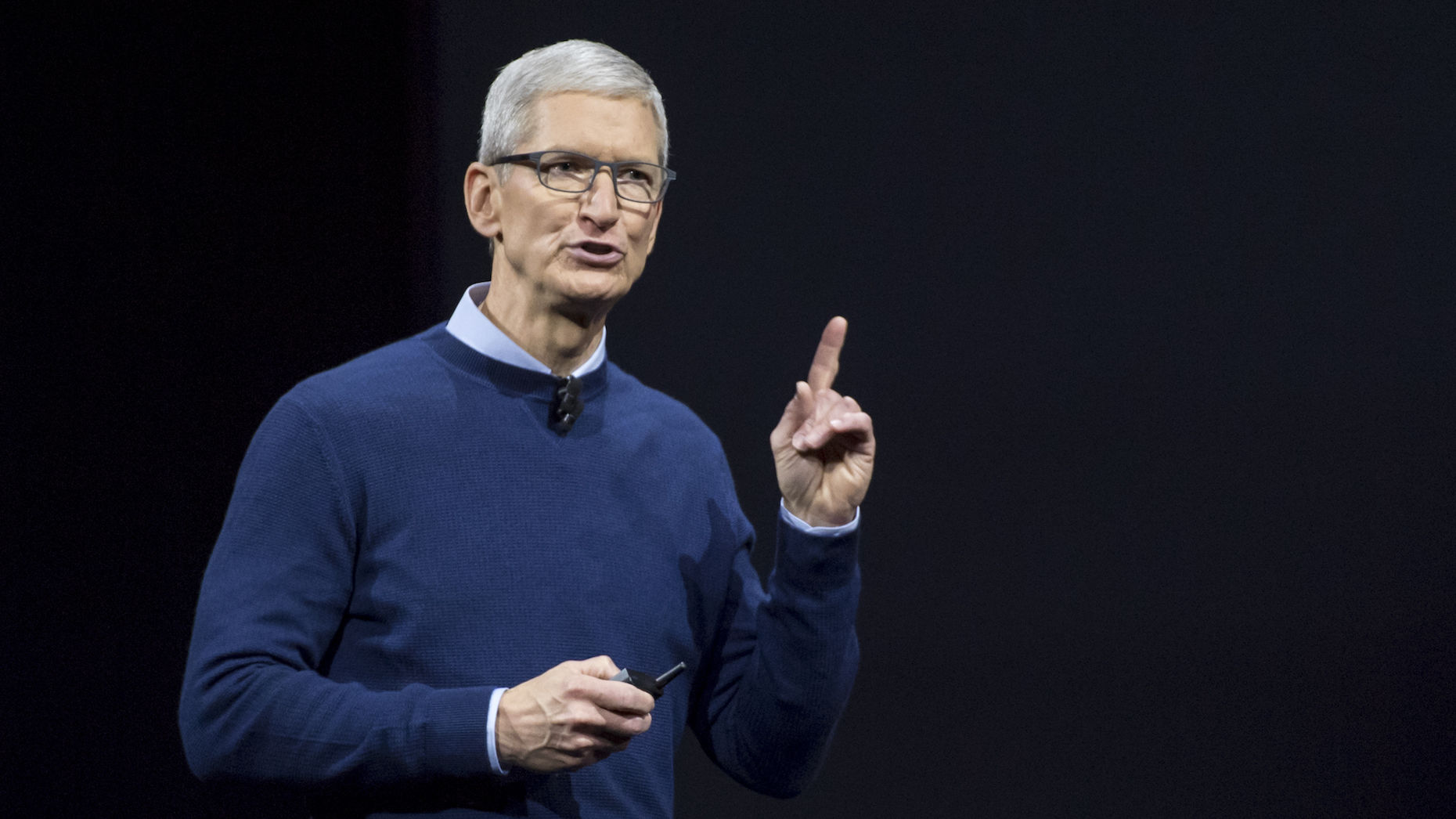 Apple CEO Tim Cook at WWDC. Photo by Bloomberg.