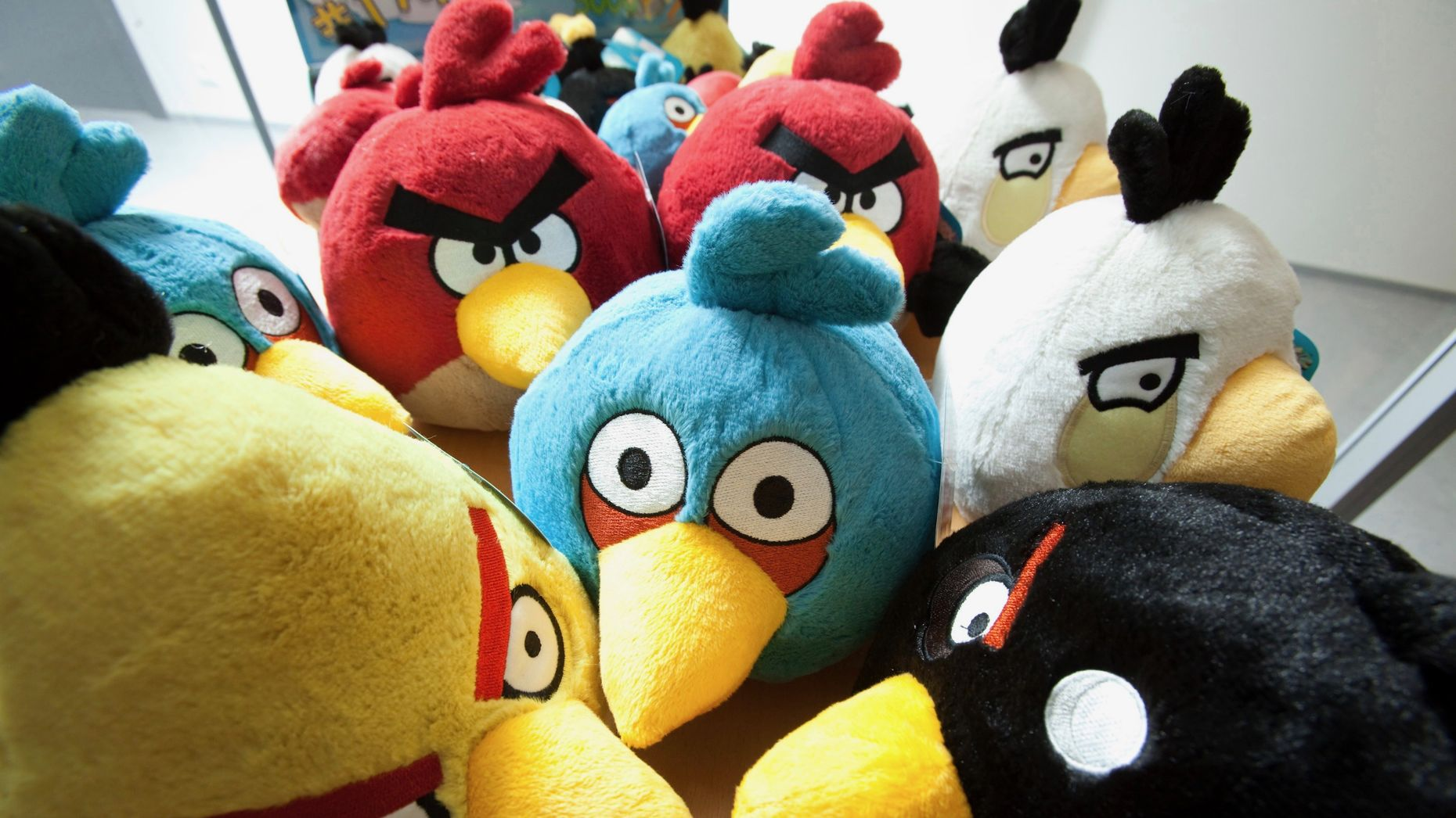 Angry Birds toys in display in Finland. Photo by Bloomberg