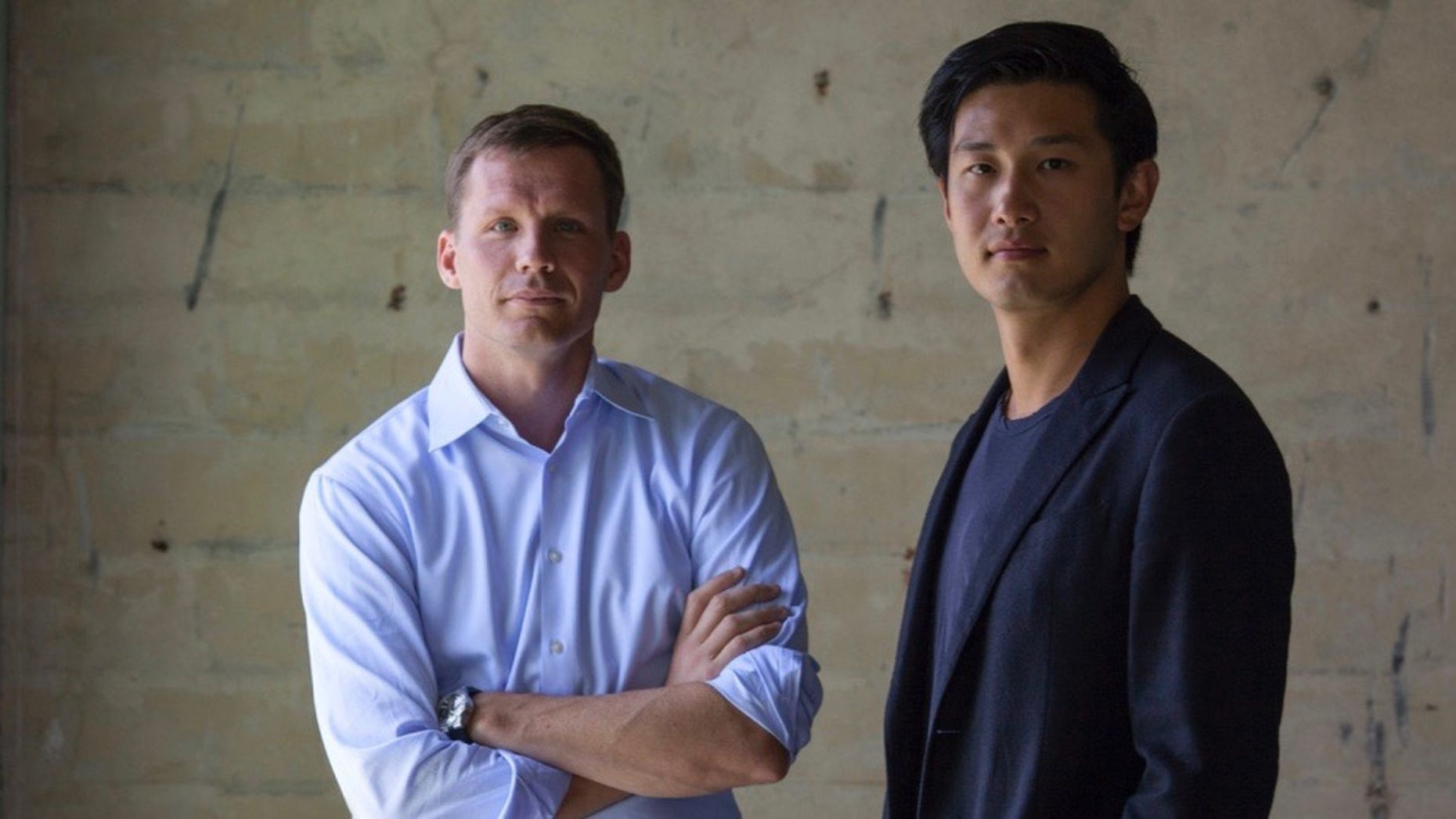 Binary's former partner Justin Caldbeck with the remaining partner, Jonathan Teo. Photo by Peter DaSilva.