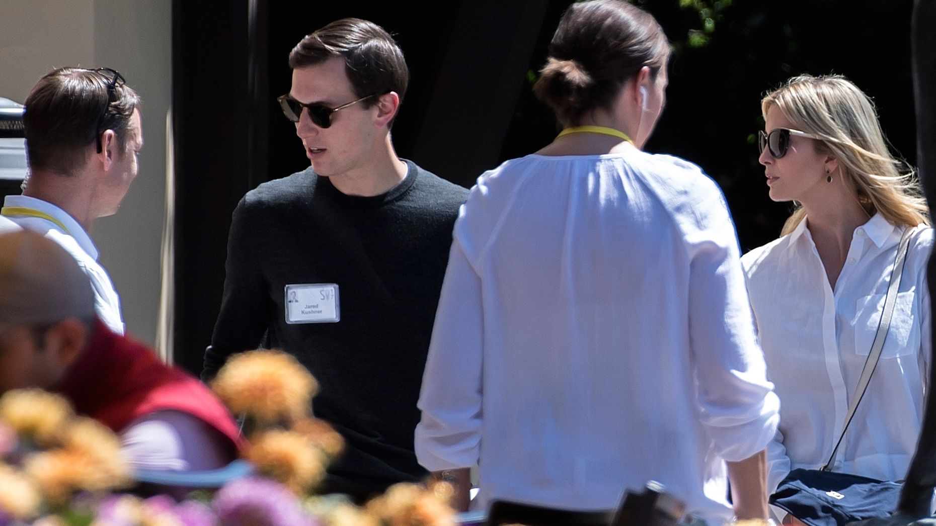 Jared Kushner and Ivanka Trump at the Allen & Co conference in Sun Valley, Idaho on Thursday. Photo by Bloomberg.