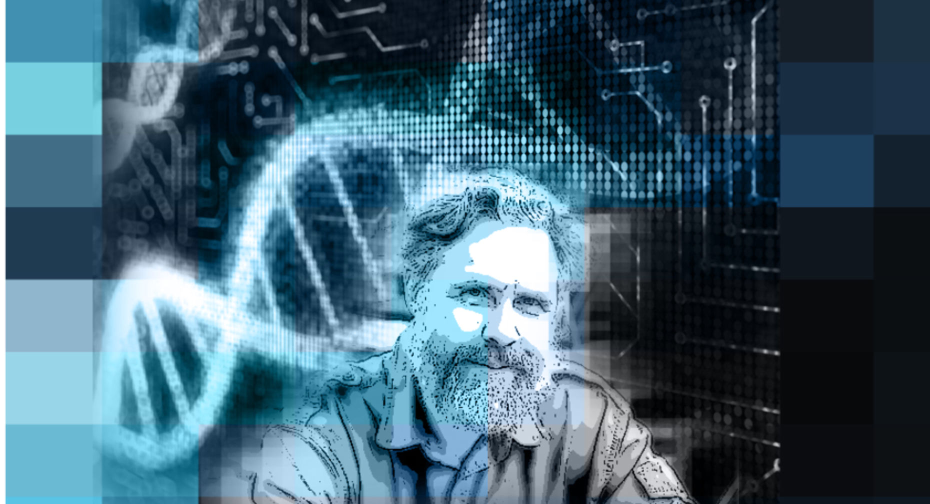 George Church. Illustration by Matthew Vascellaro.