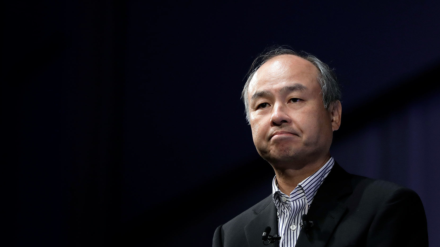 SoftBank Chairman Masayoshi Son. Photo by Bloomberg.
