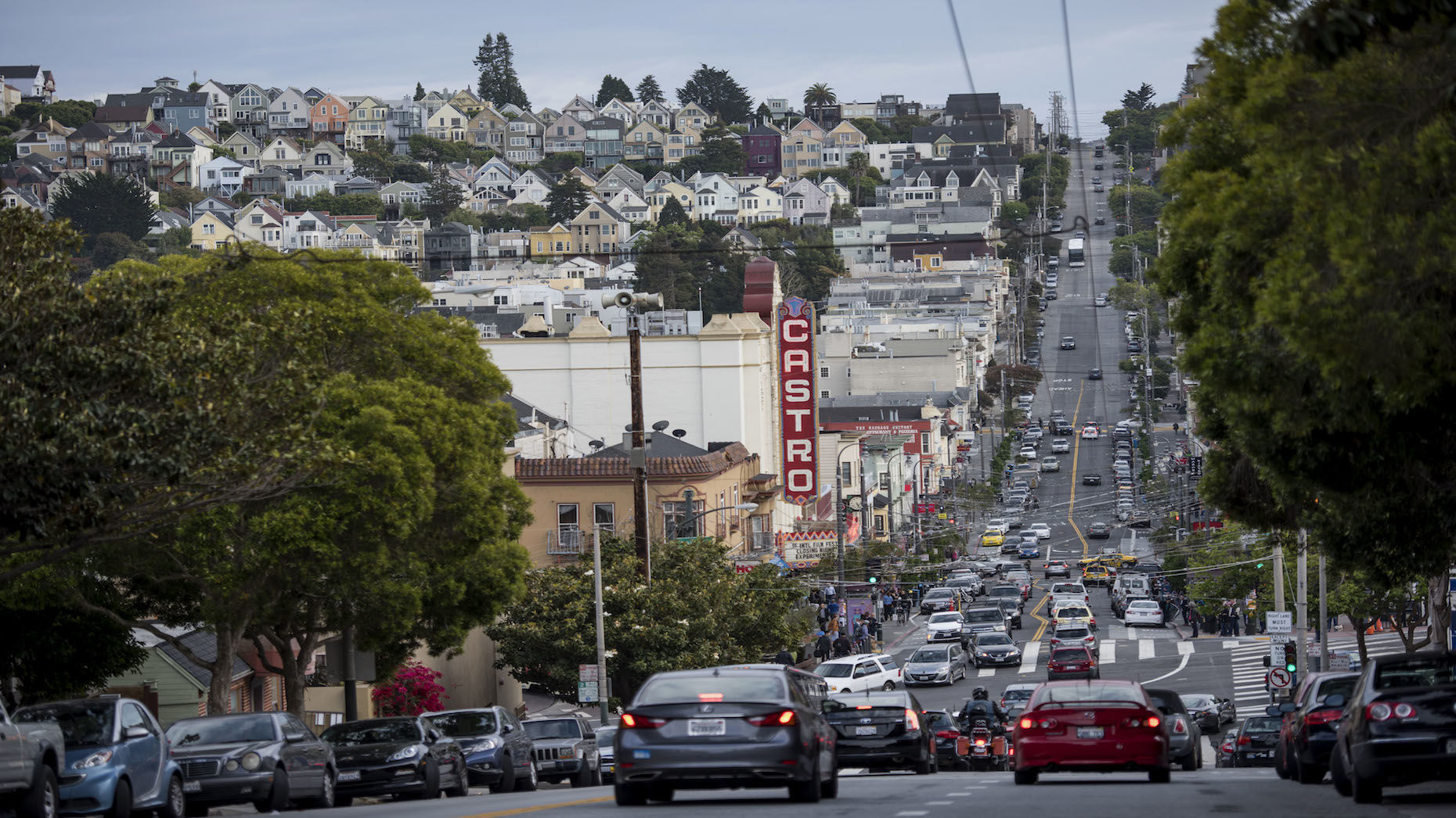 Officials in big U.S. cities are starting to plan for the arrival of autonomous vehicles on crowded streets. Above, San Francisco's Castro Street. Photo: Bloomberg