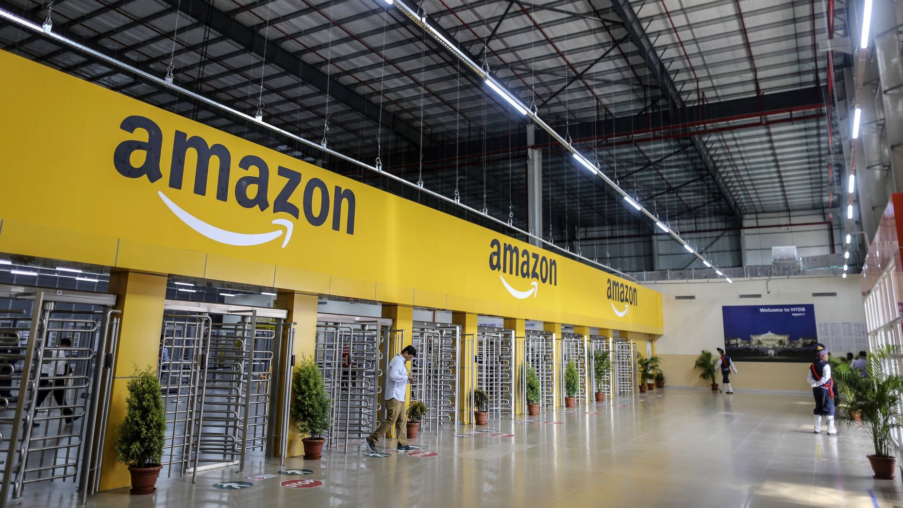 An Amazon warehouse in Hyderabad, India. Photo by Bloomberg.