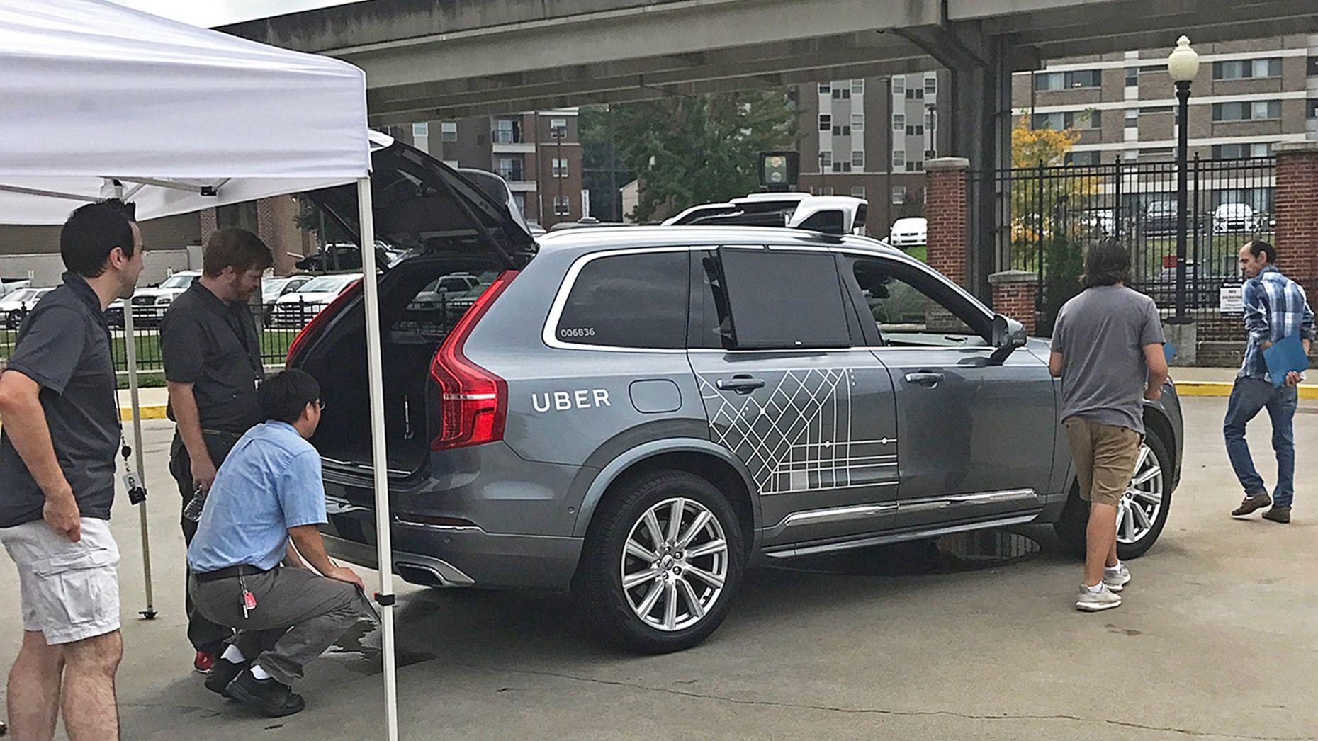 An Uber autonomous vehicle. Photo by AP.