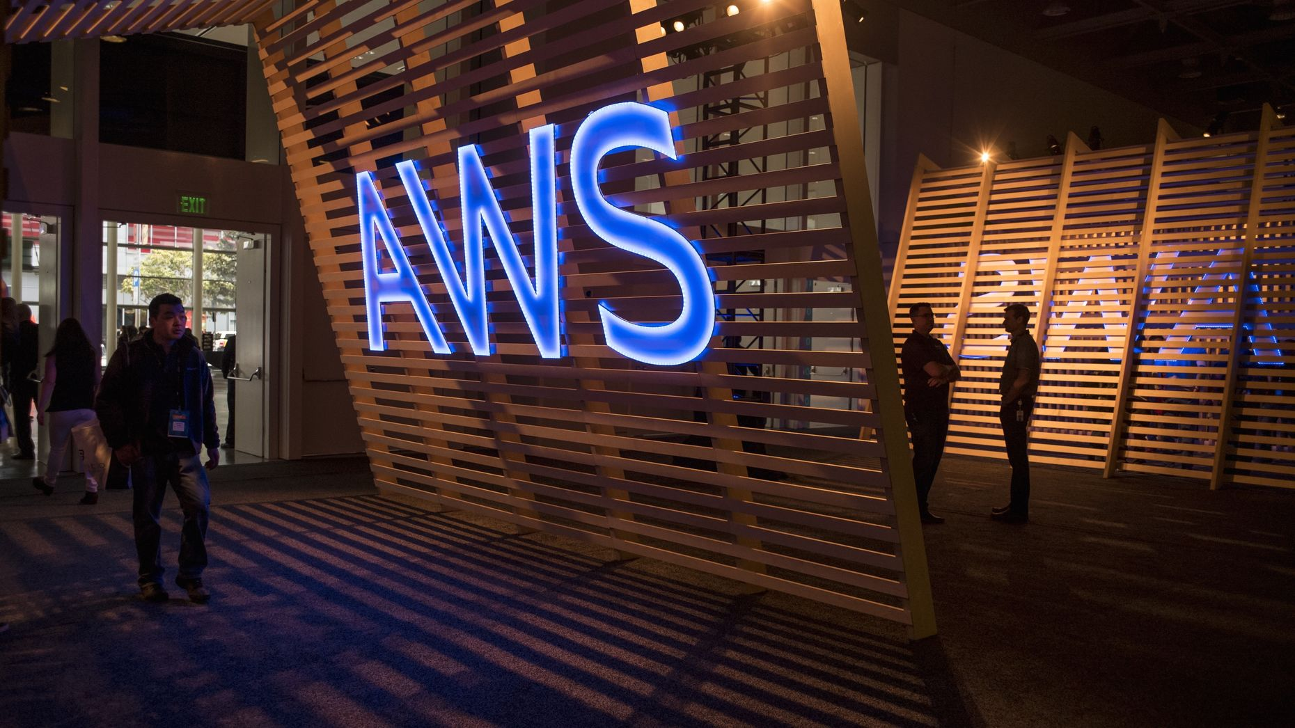 At the AWS summit in San Francisco last April. Photo by Bloomberg.