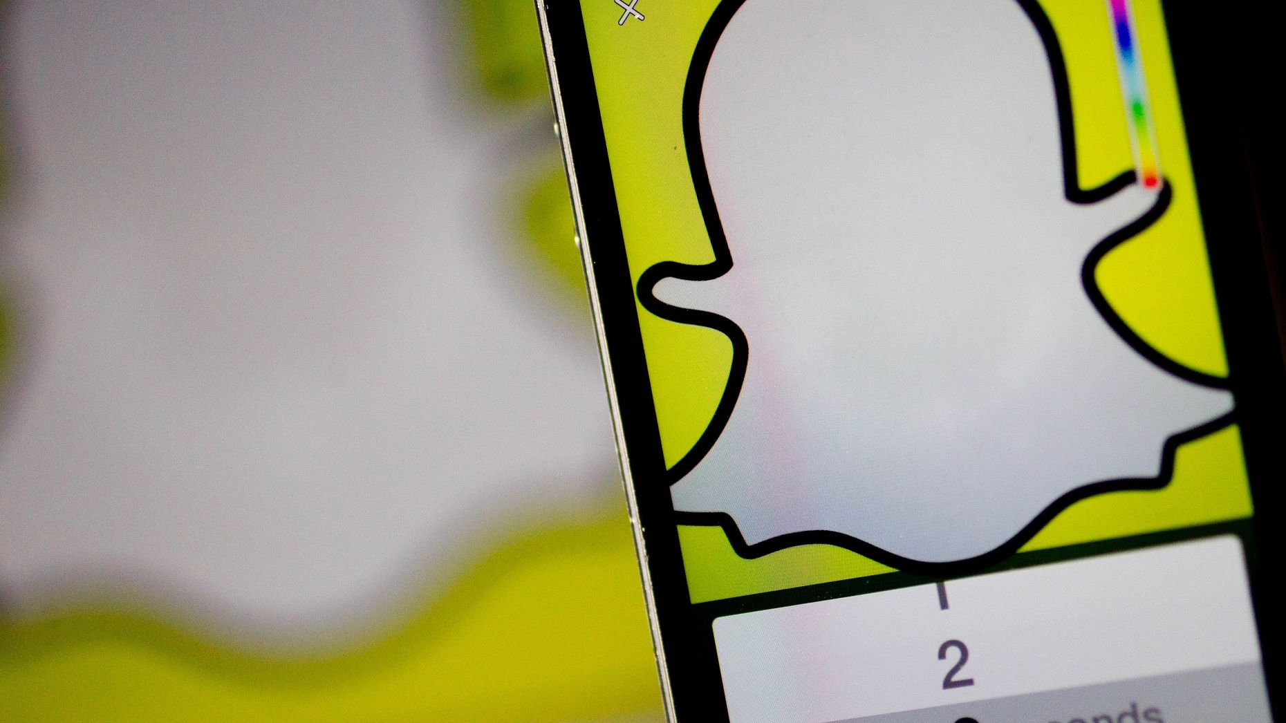 The Snapchat app. Photo by Bloomberg