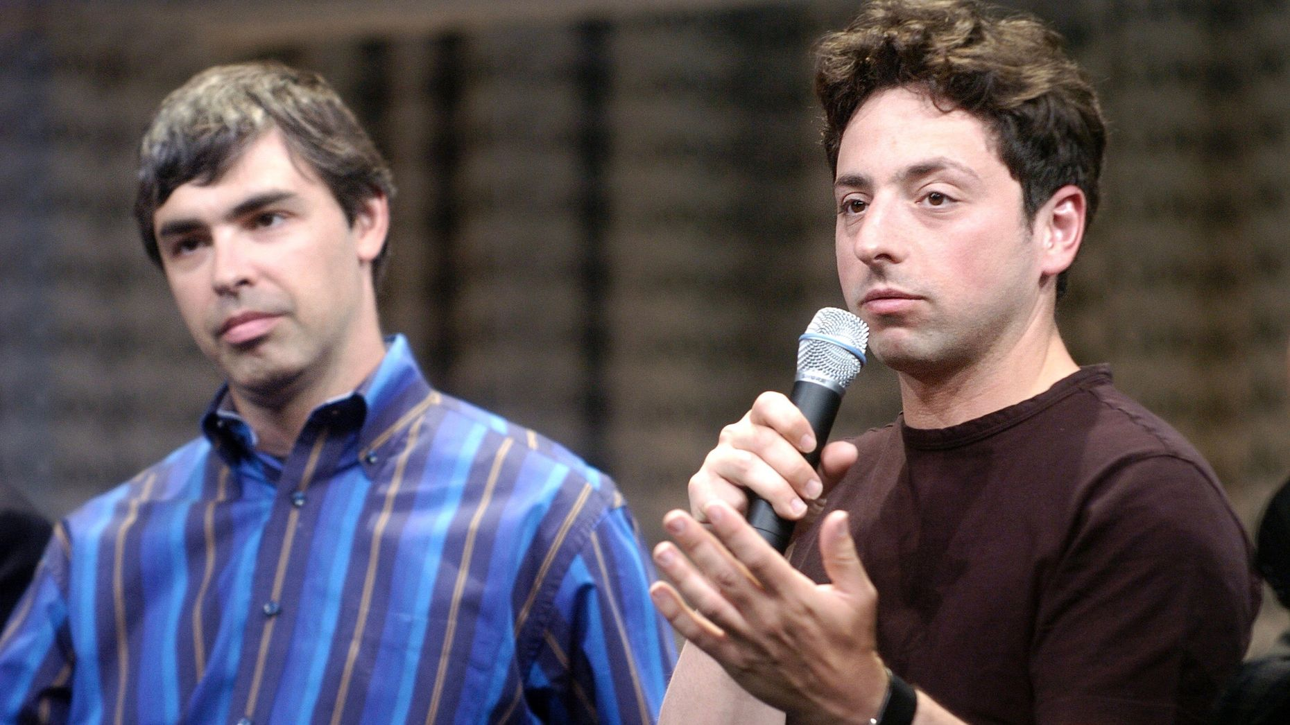 Google co-founders Larry Page and Sergey Brin. Photo by AP.