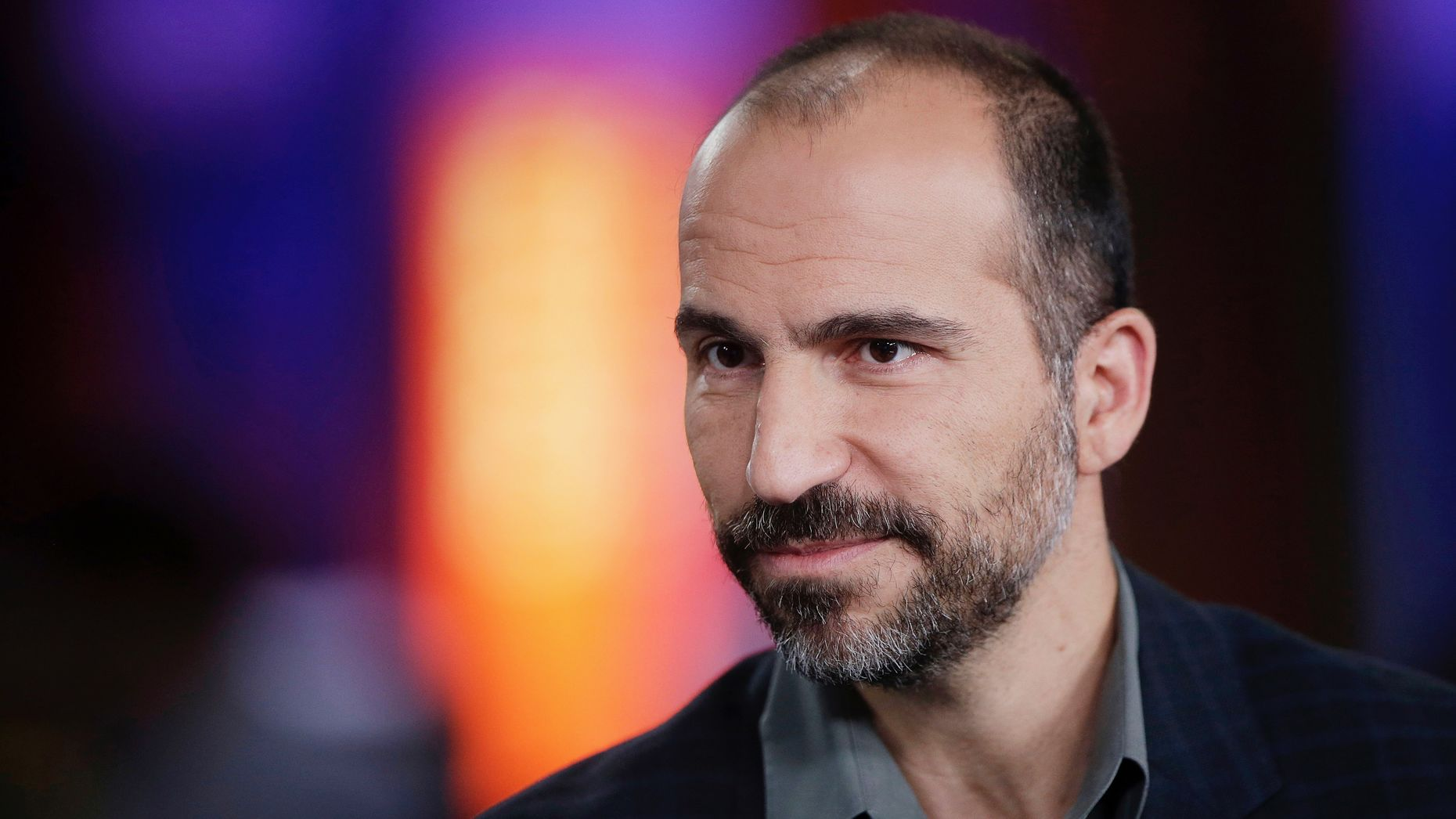 Uber CEO Dara Khosrowshahi. Photo by Bloomberg. Charts by Mike Sullivan.