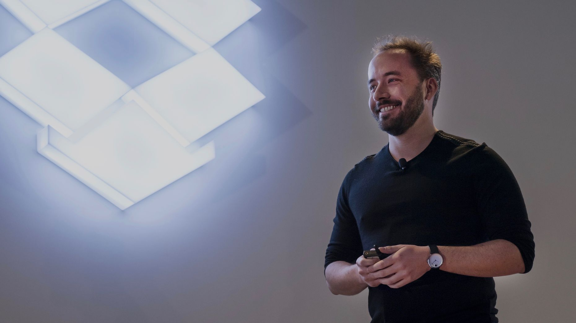 Dropbox CEO Drew Houston. Photo by Bloomberg.