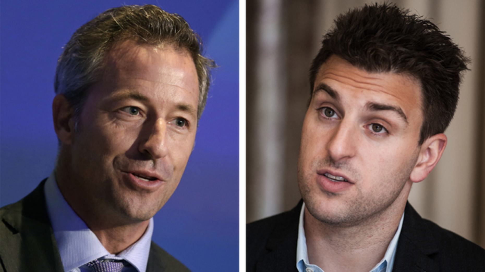 Laurence Tosi and Brian Chesky. Photos by Bloomberg.