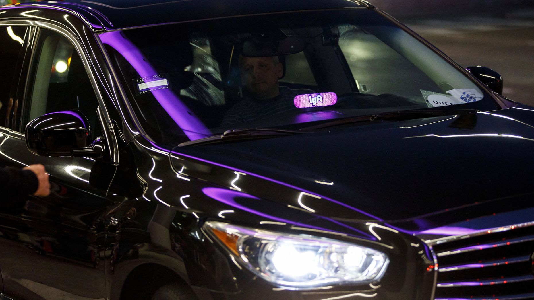 A Lyft car. Photo by Bloomberg.