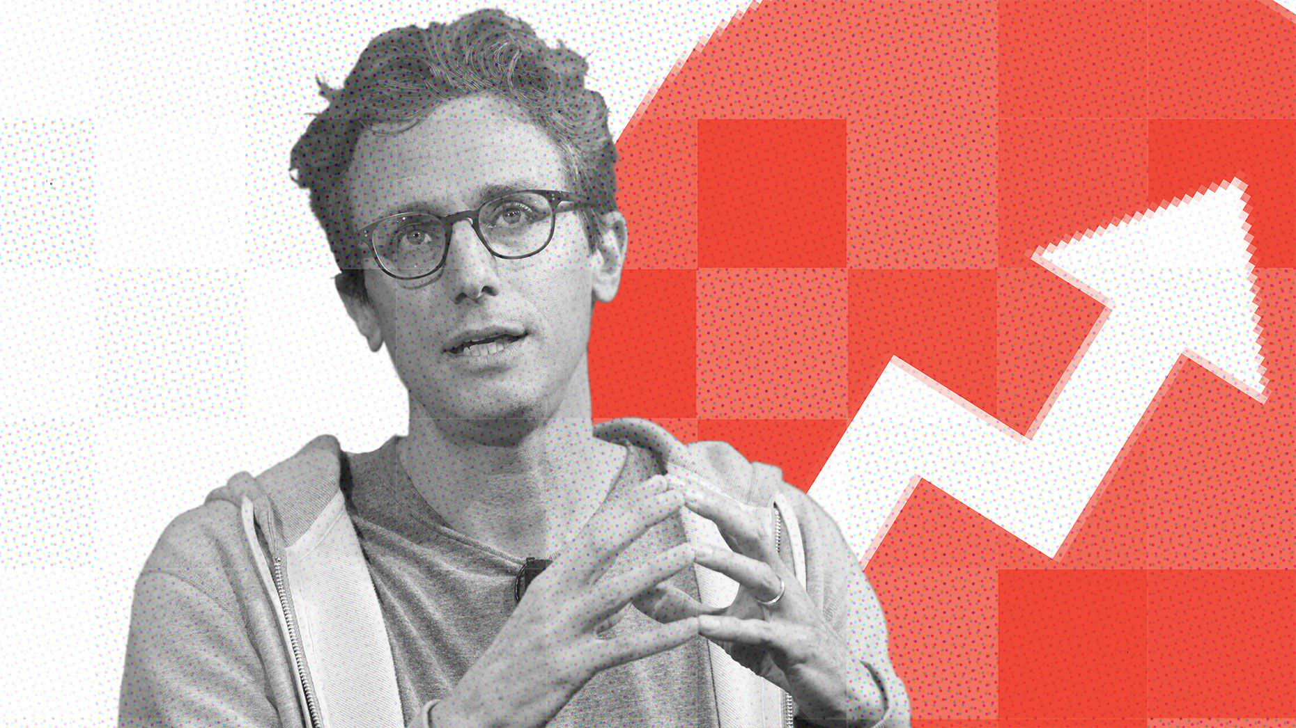 BuzzFeed CEO Jonah Peretti. Art by Mike Sullivan
