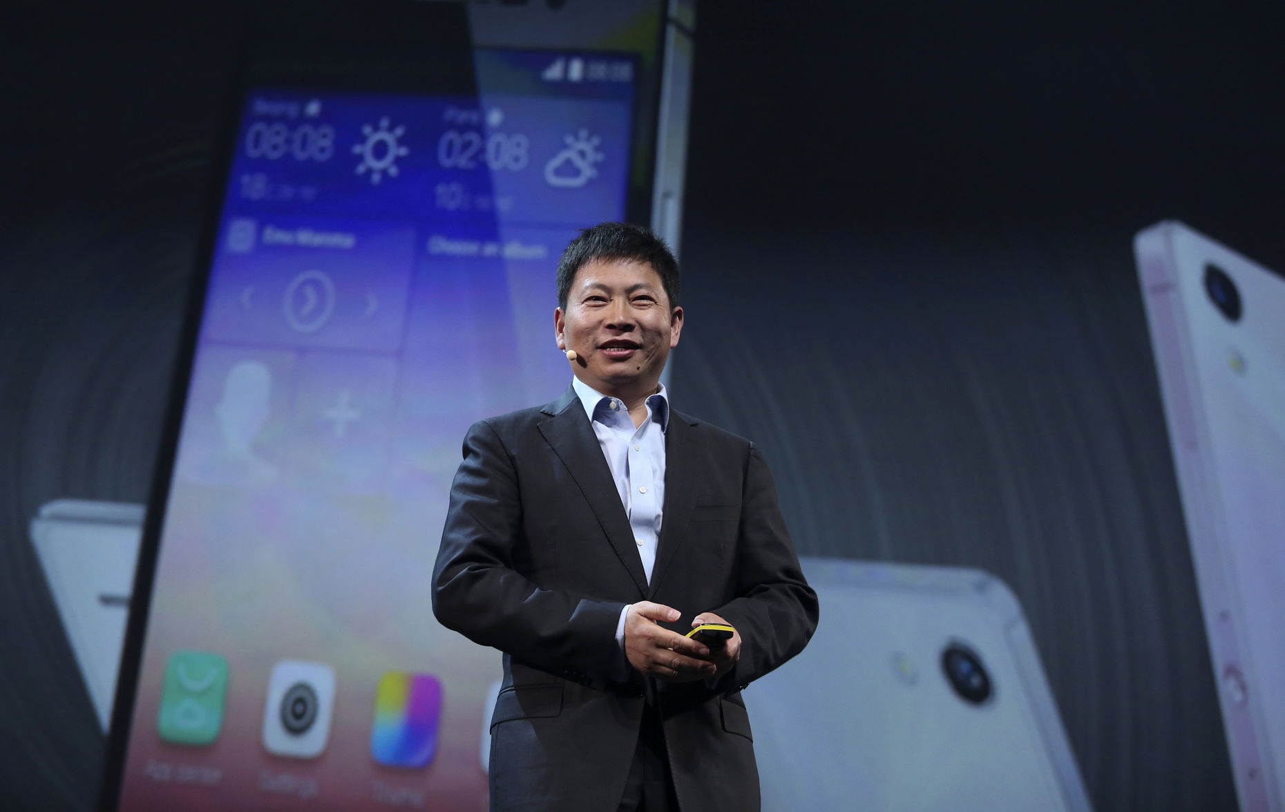 Richard Yu, head of the consumer business for Huawei. Photo by Bloomberg.