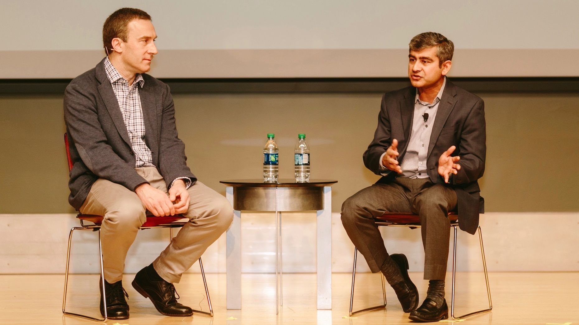 The Information's Kevin McLaughlin in conversation Wednesday with Oracle's Amit Zavery. Photo by Karen Obrist.