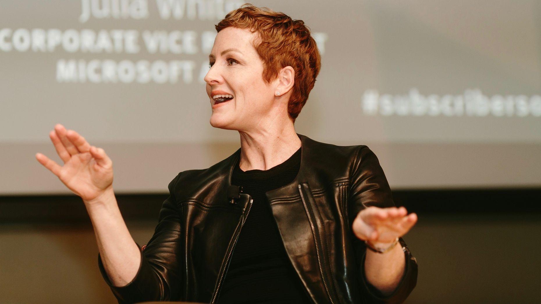 Microsoft's Julie White. Photo by Karen Obrist.