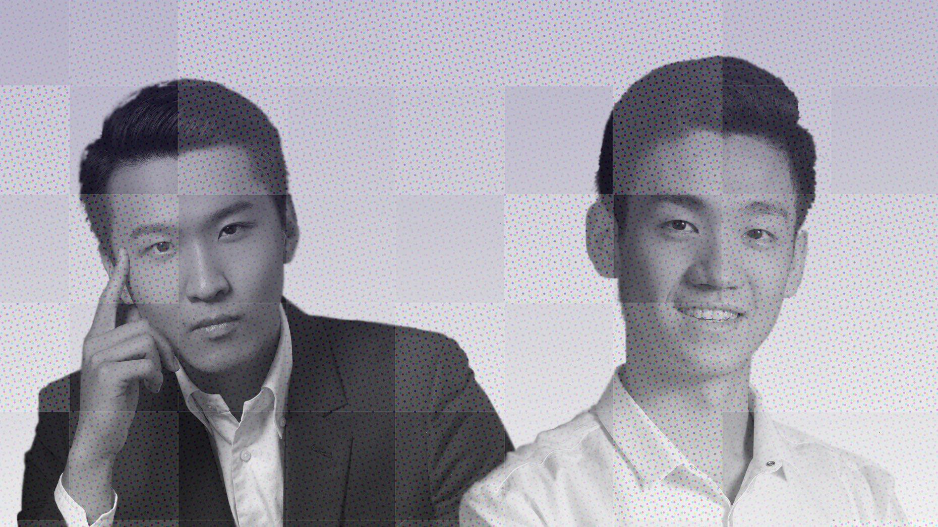 Wang Bowen (l.), Ruan Yubo