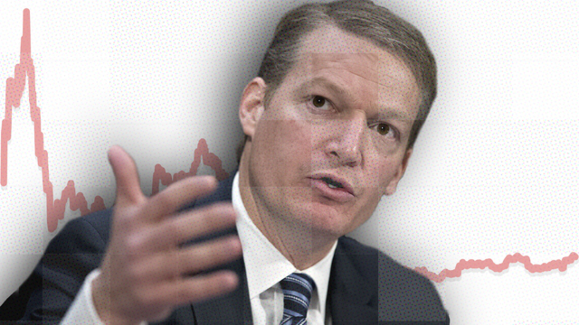 FireEye CEO Kevin Mandia, against FireEye's stock since January, 2014. Art by Mike Sullivan. Photo by Bloomberg