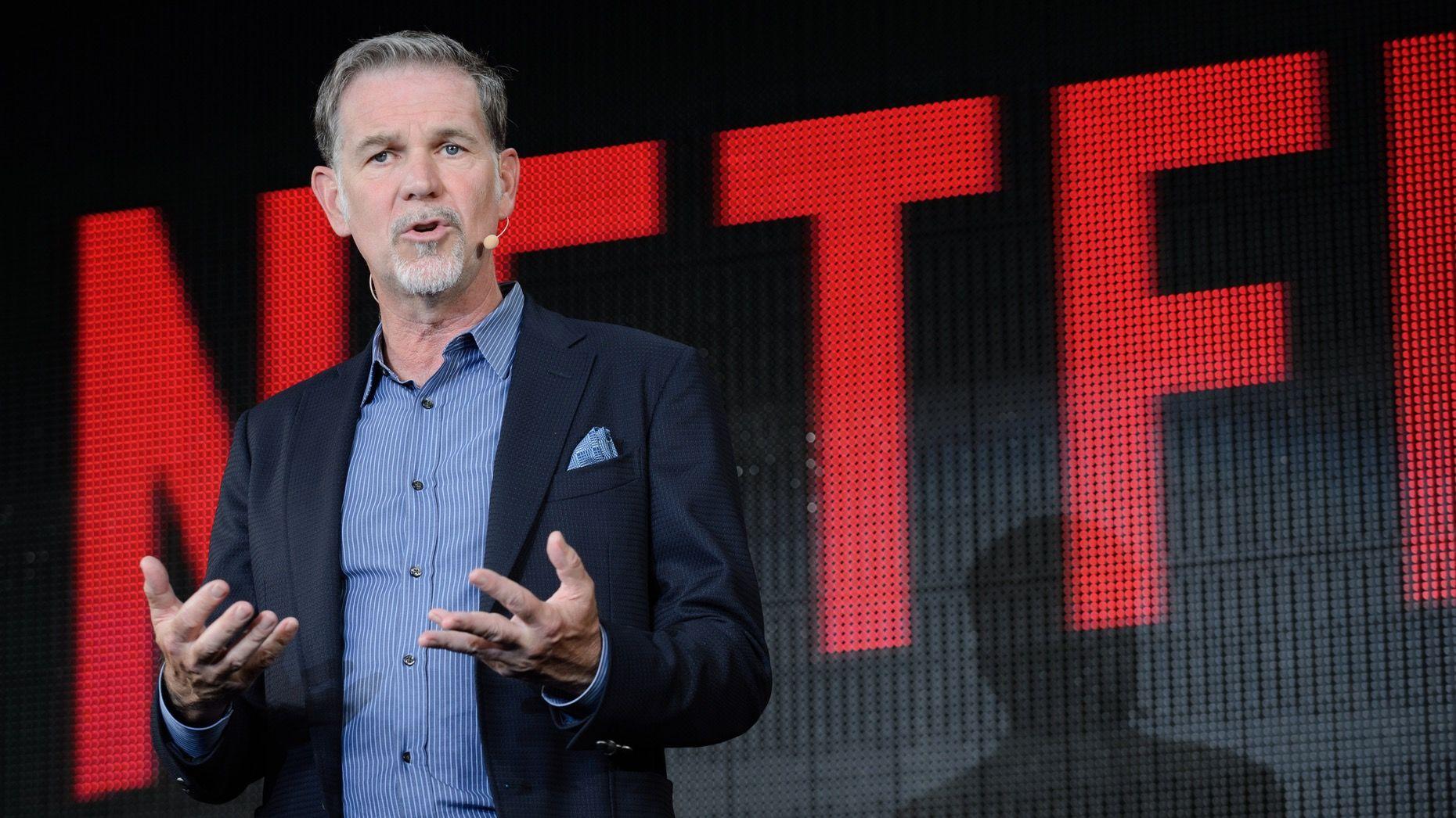 Netflix CEO Reed Hastings speaking in Tokyo in 2016. Photo: Bloomberg