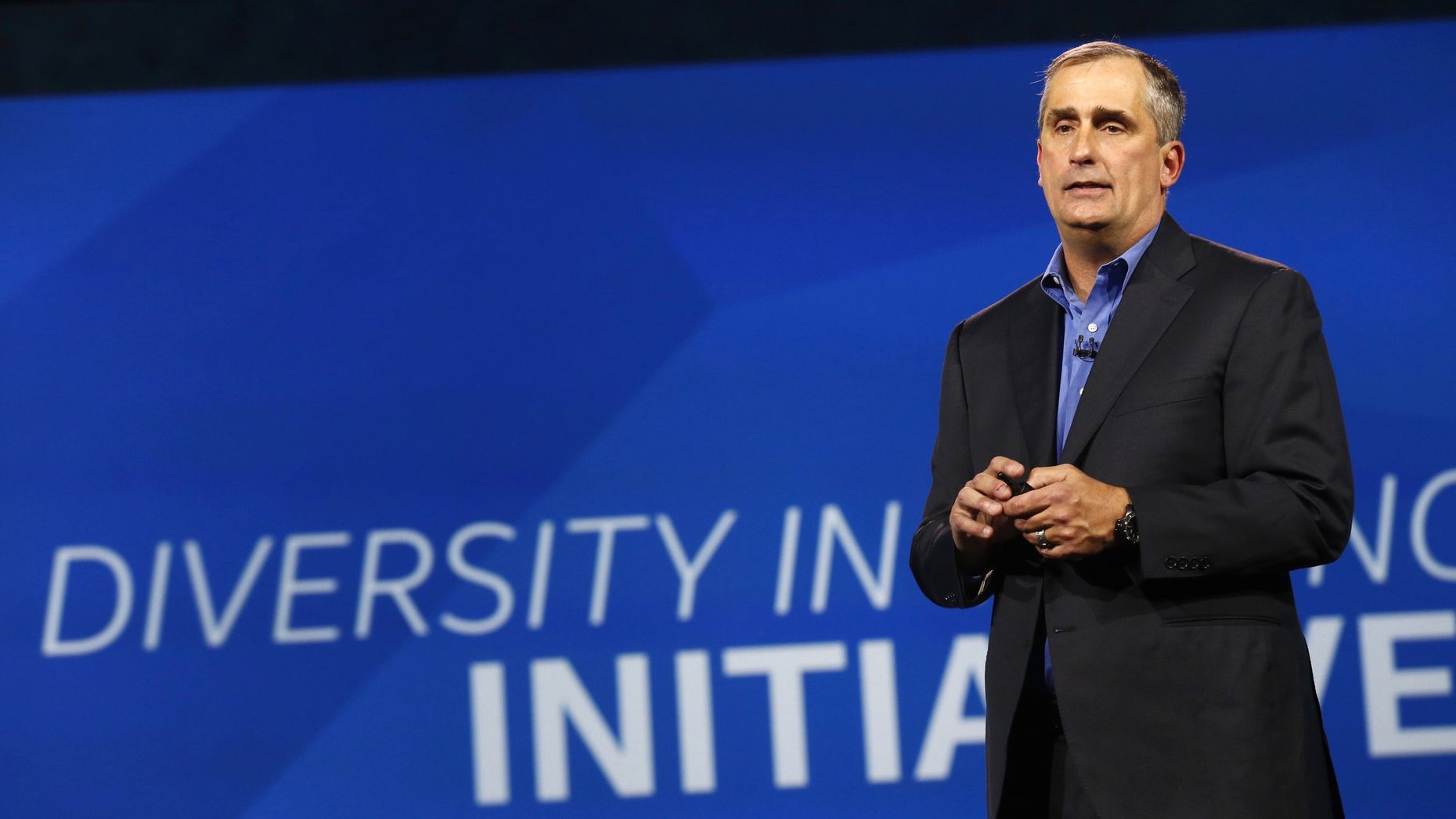 Intel CEO Brian Krzanich. Photo by Bloomberg
