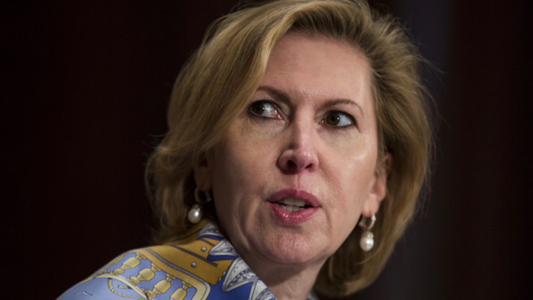 Mira Ricardel, shown during her Senate confirmation hearing last year, is leaving her post as head of the Bureau of Industry and Security to become deputy national security adviser. Photo by Bloomberg